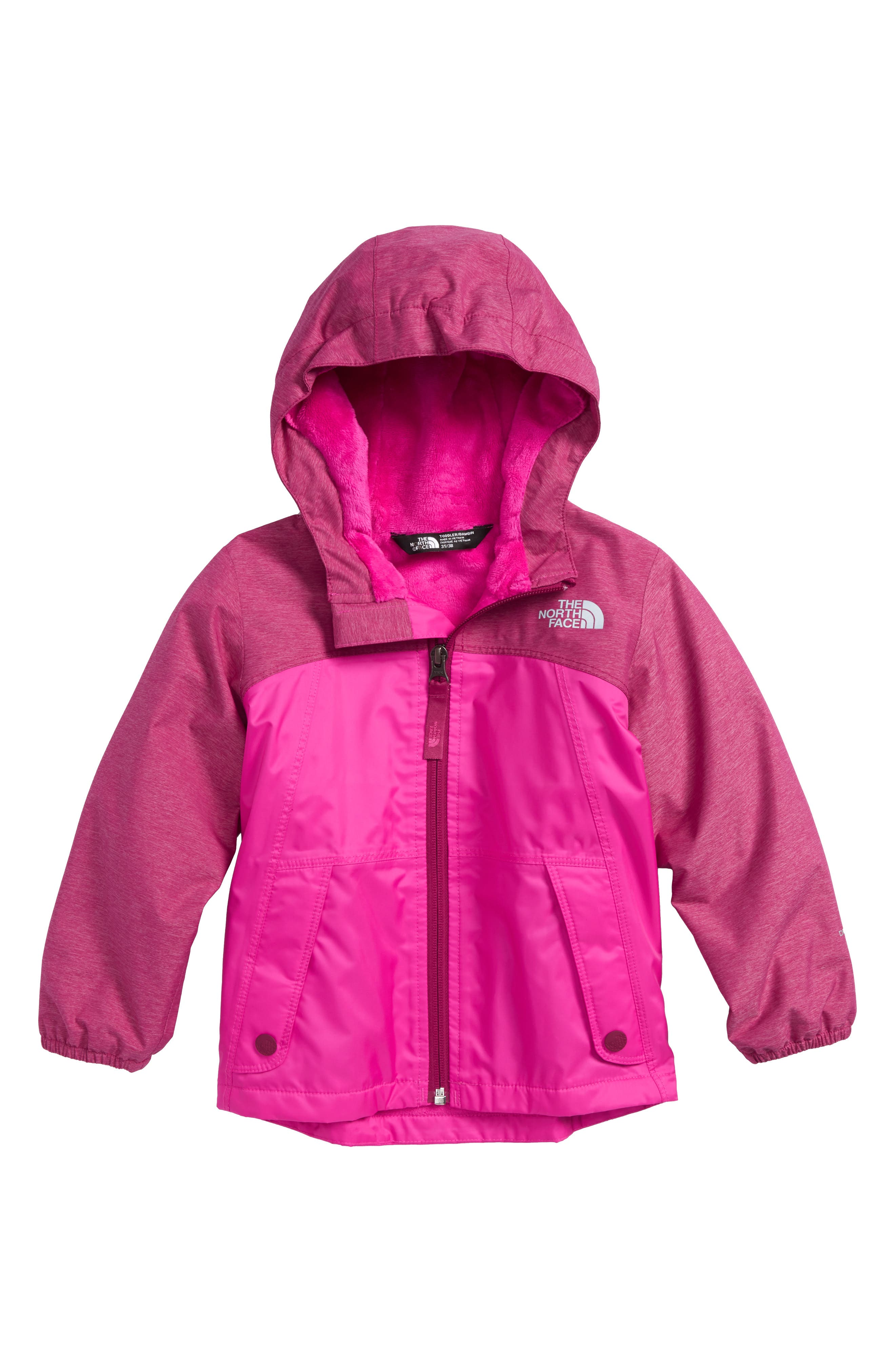 Warm Storm Waterproof Jacket,                             Main thumbnail 1, color,                             DRAMATIC PLUM HEATHER