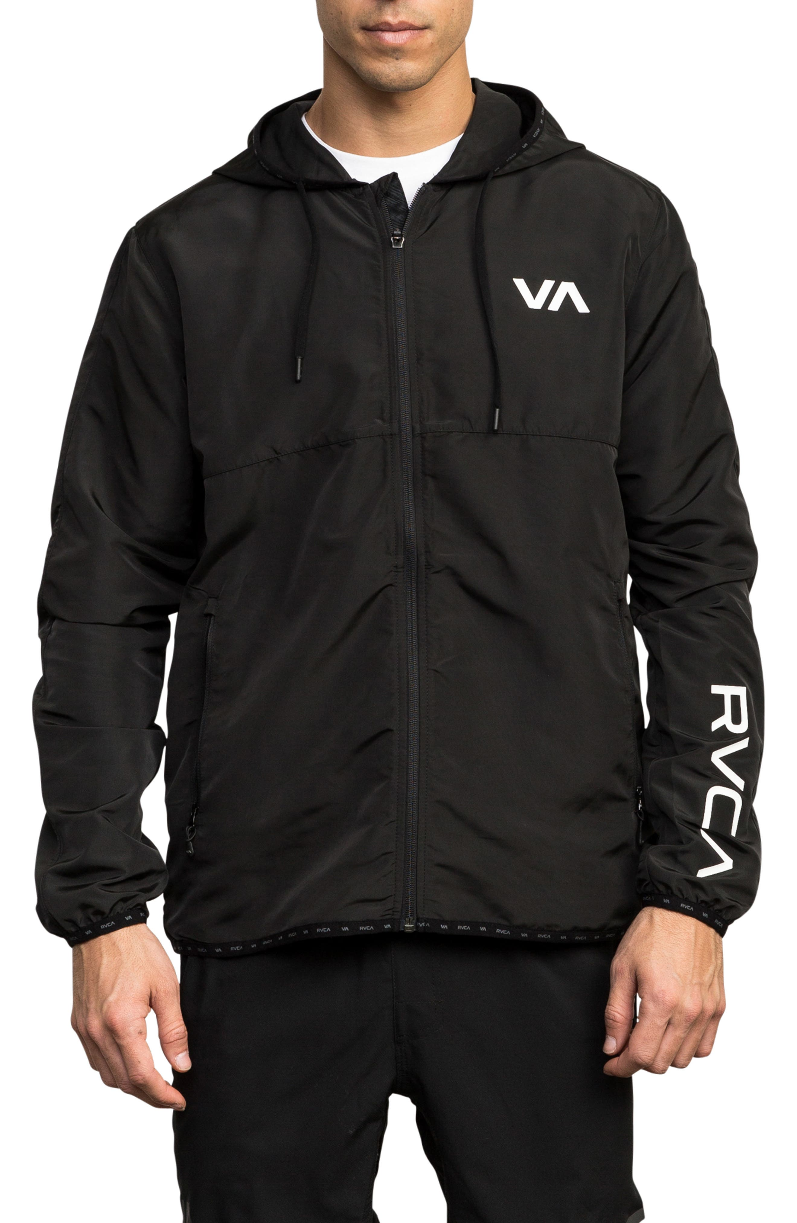 Axe Packable Water Resistant Jacket,                         Main,                         color, BLACK