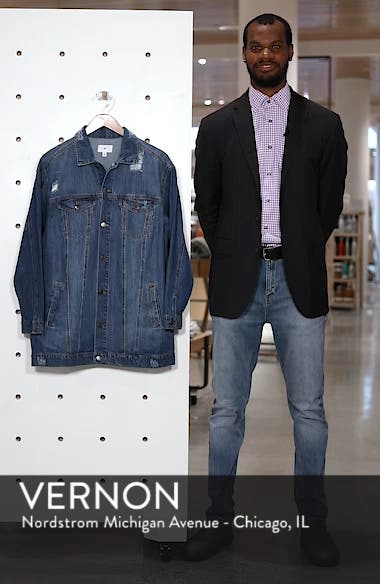 Distressed Longline Denim Jacket, sales video thumbnail