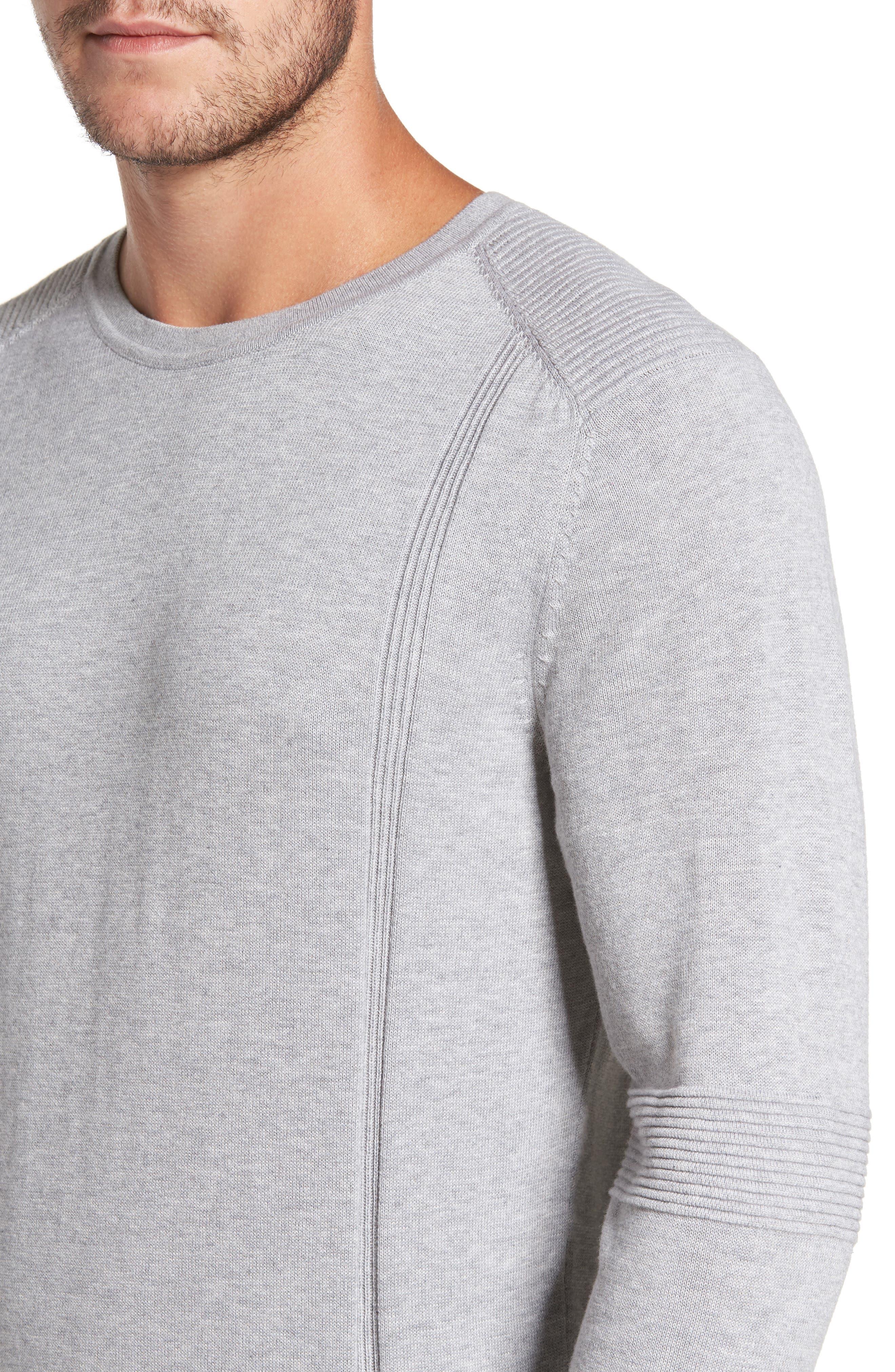 R18 Chopper Rib Detail Sweater,                             Alternate thumbnail 4, color,                             078