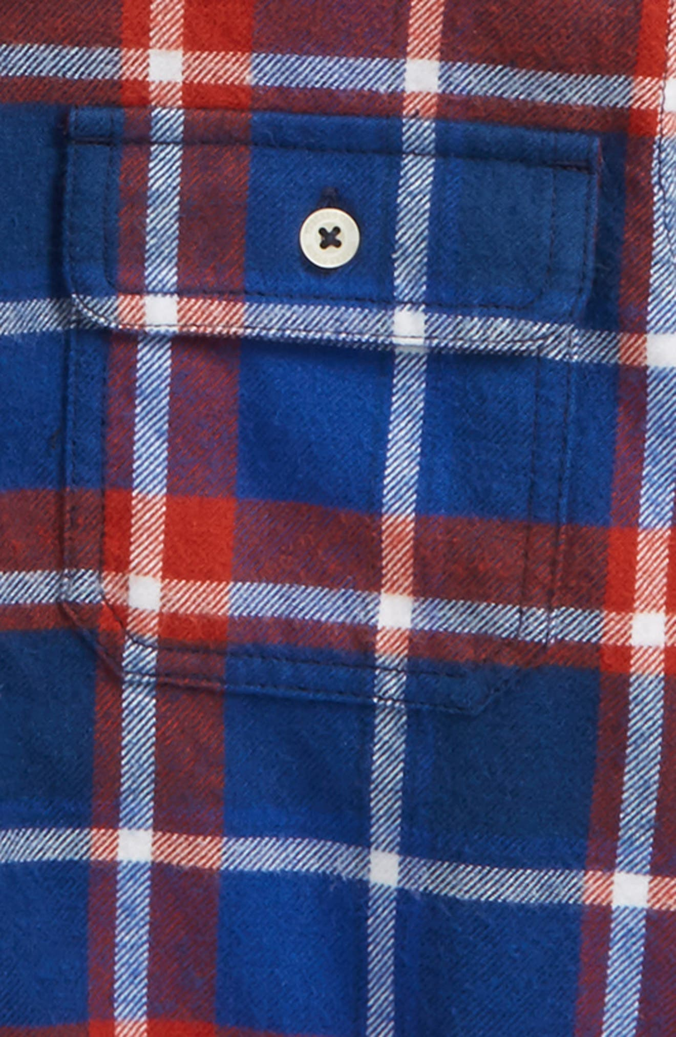 Mixed Media Hooded Flannel Shirt,                             Alternate thumbnail 2, color,                             420