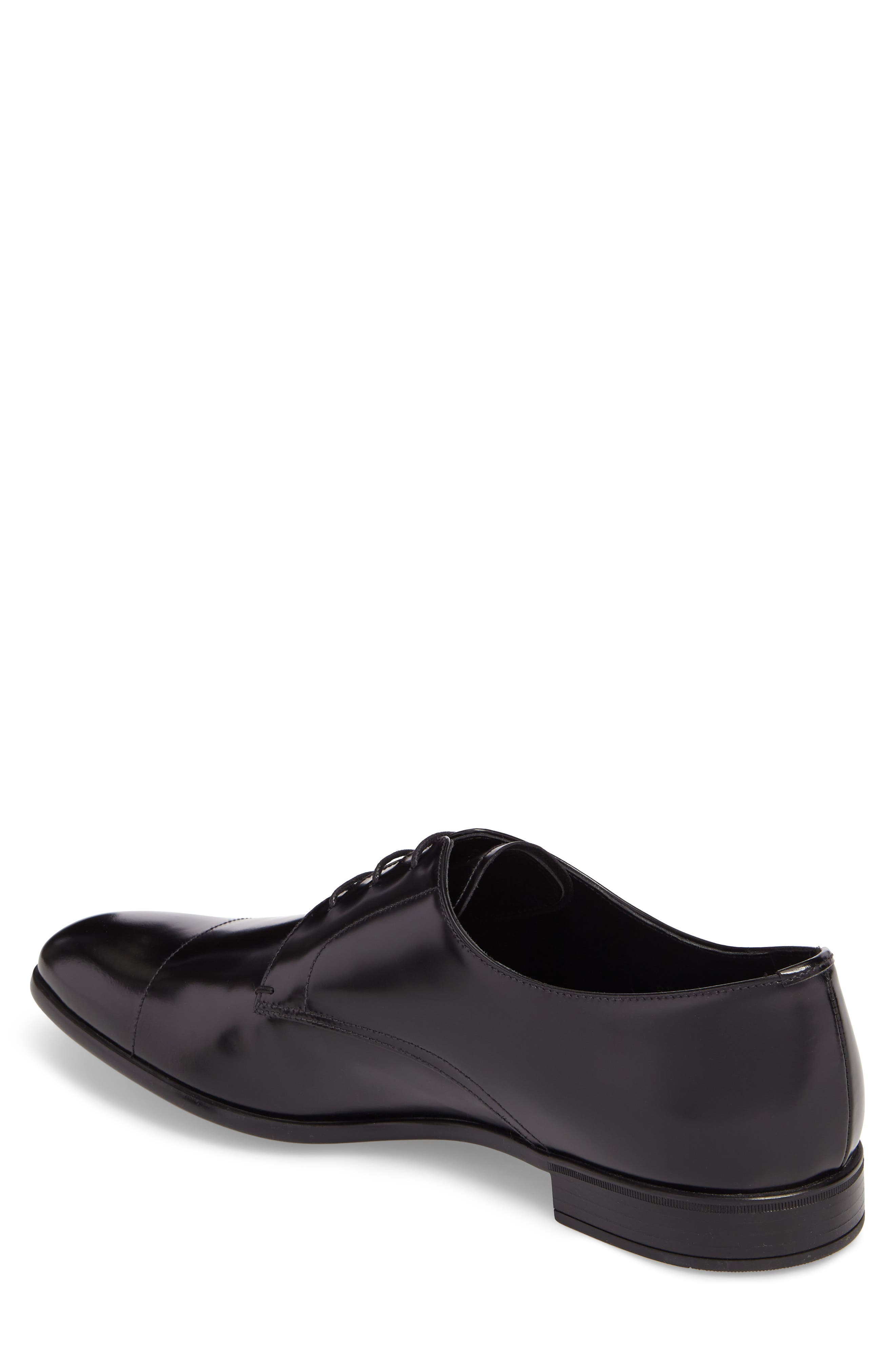 Cap Toe Derby,                             Alternate thumbnail 2, color,                             BLACK