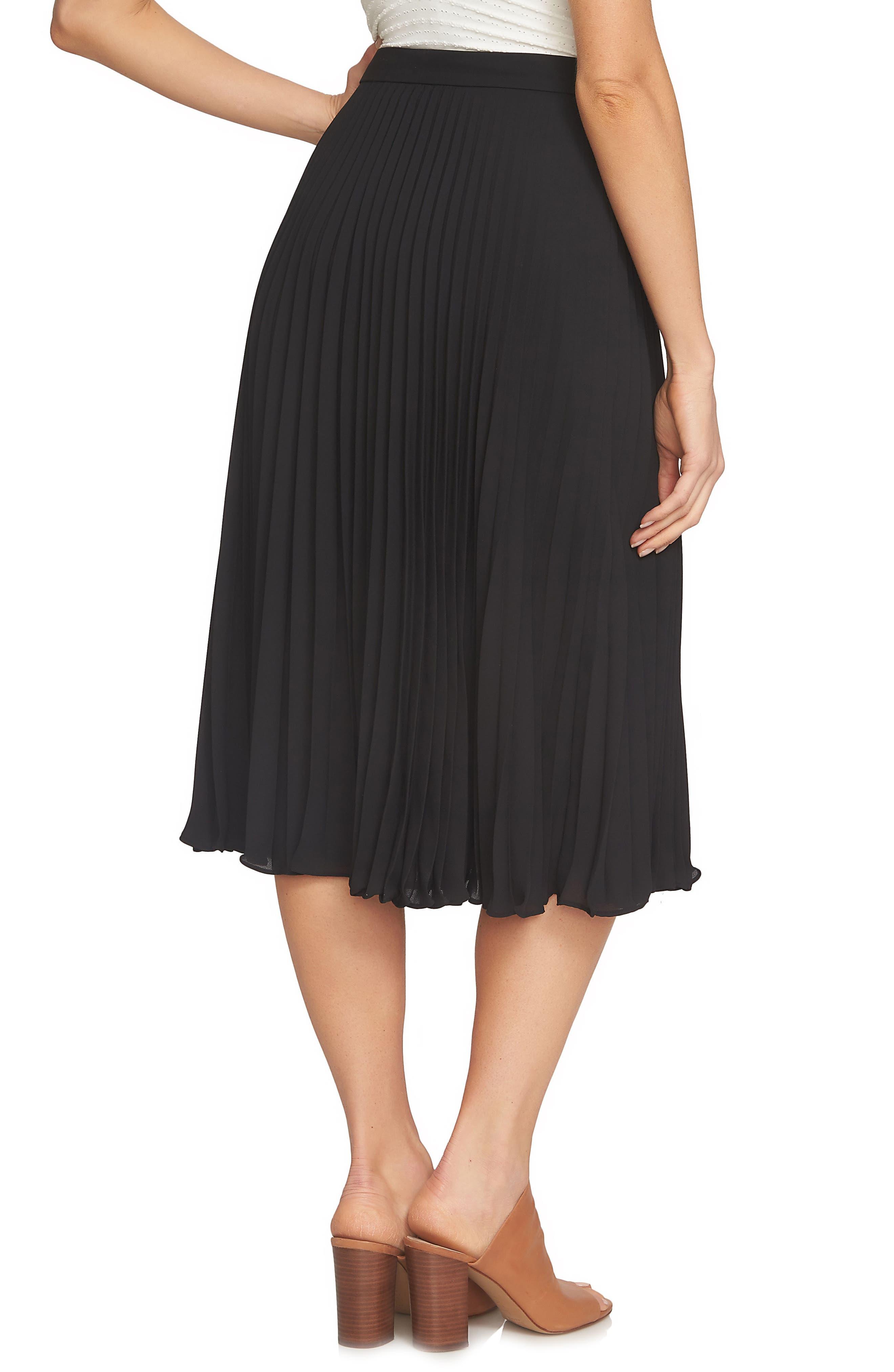 Pleated Midi Skirt,                             Alternate thumbnail 4, color,