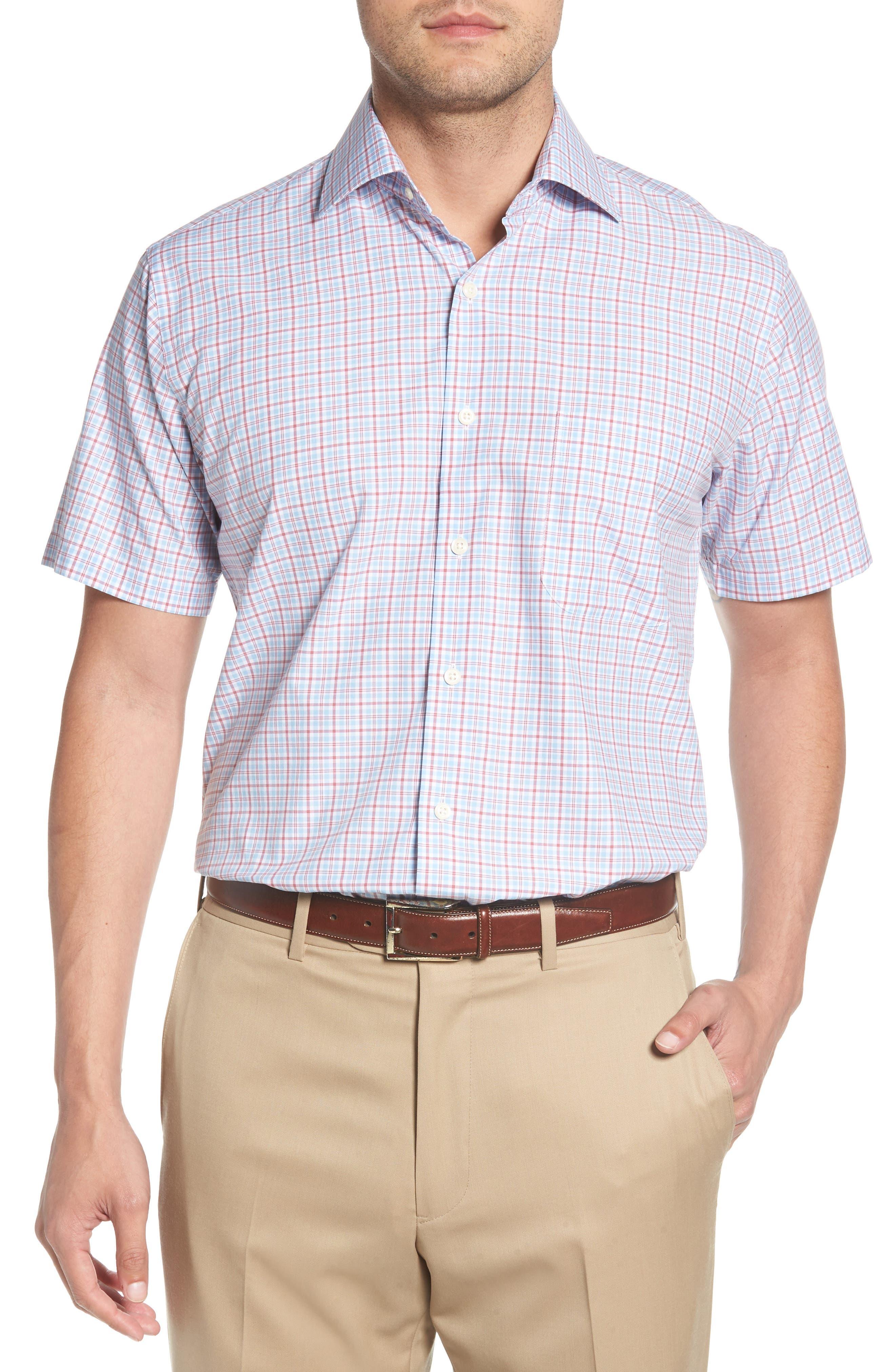 Delridge Regular Fit Tartan Sport Shirt,                         Main,                         color, 400