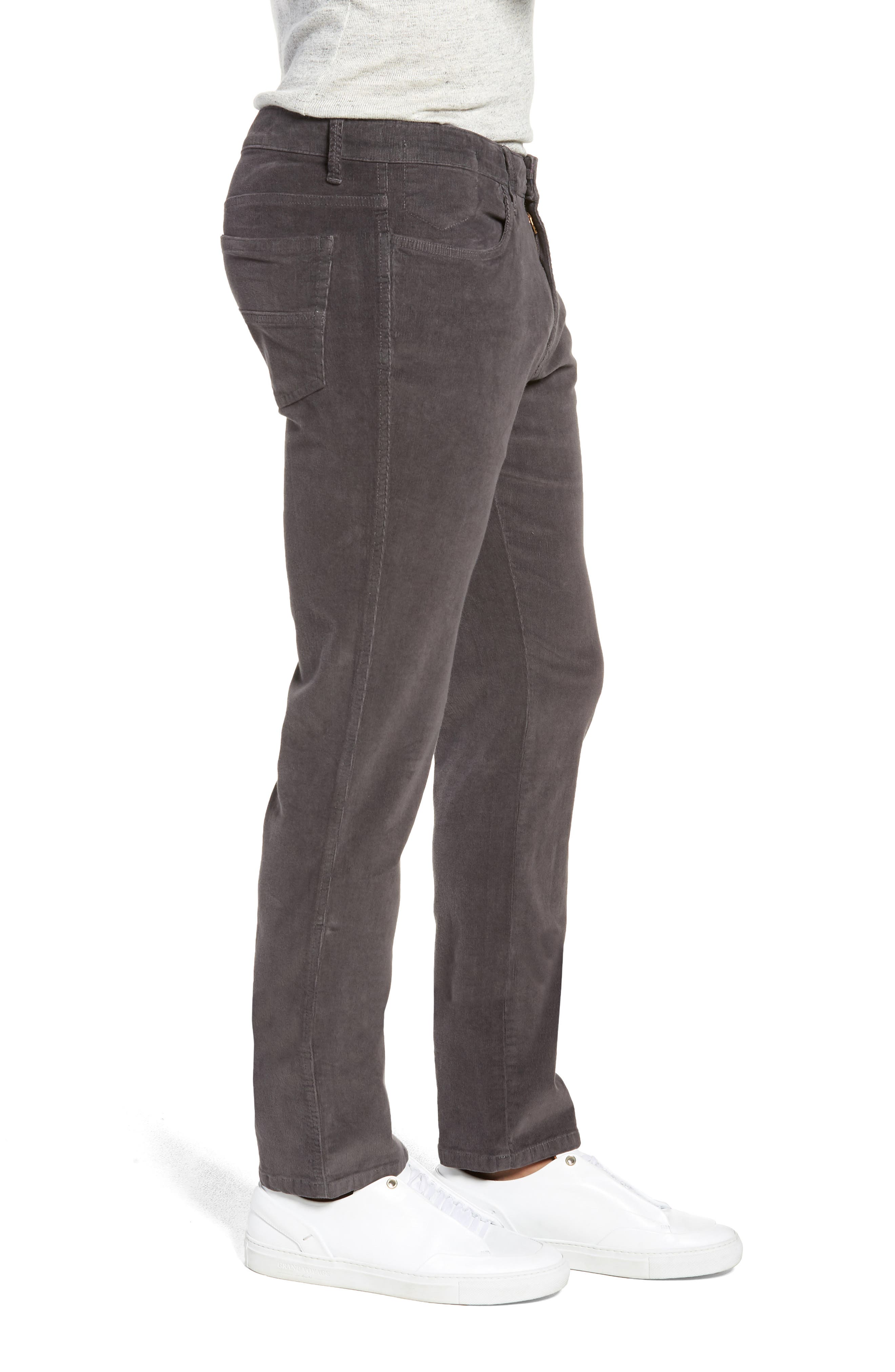 VINTAGE 1946,                             Modern Fit Stretch Corduroy Pants,                             Alternate thumbnail 3, color,                             CHARCOAL