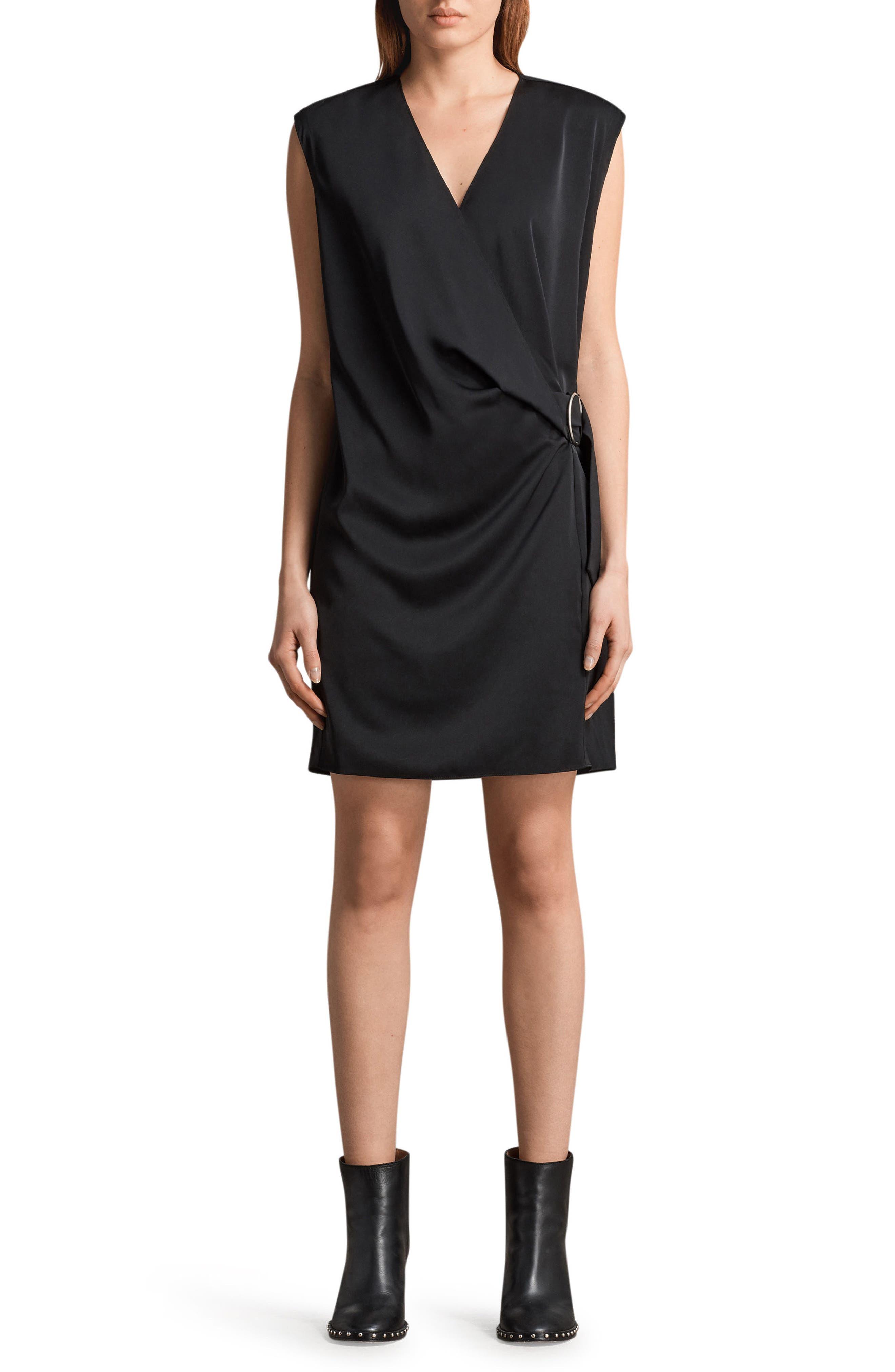 ALLSAINTS Callie Dress, Main, color, 001