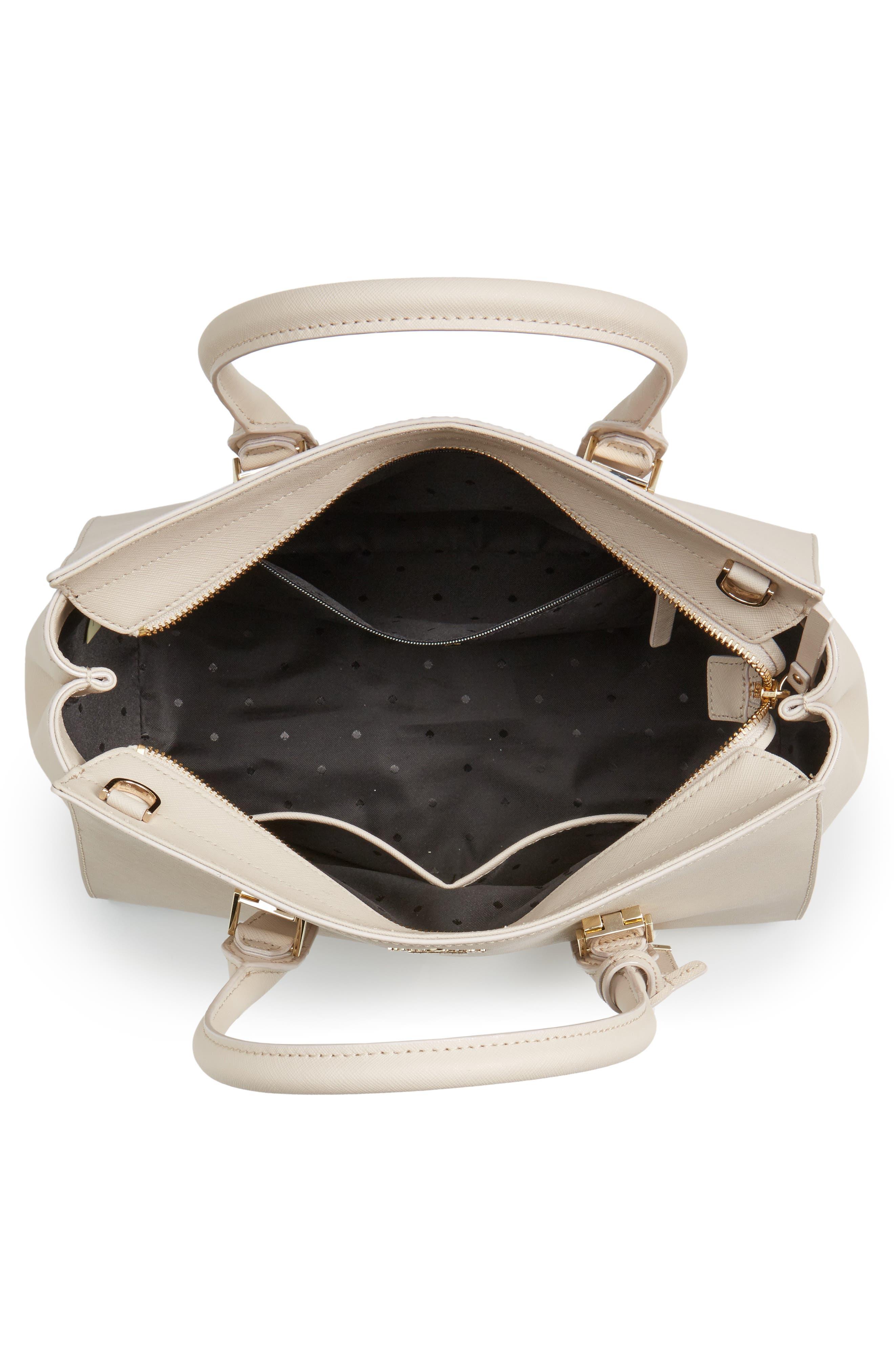 make it mine - candace leather satchel,                             Alternate thumbnail 8, color,