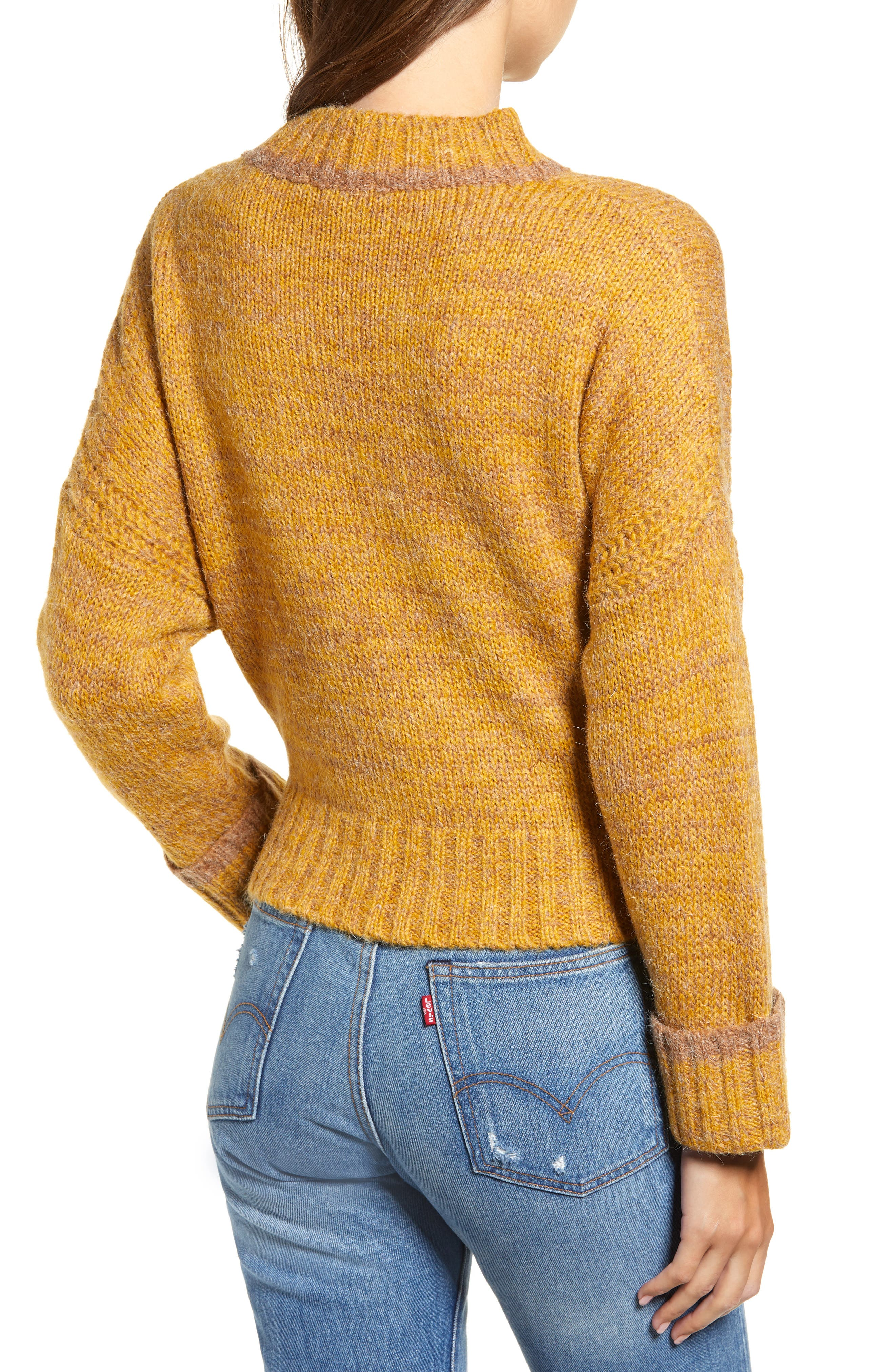 Tie Hem Crop Sweater,                             Alternate thumbnail 2, color,                             700