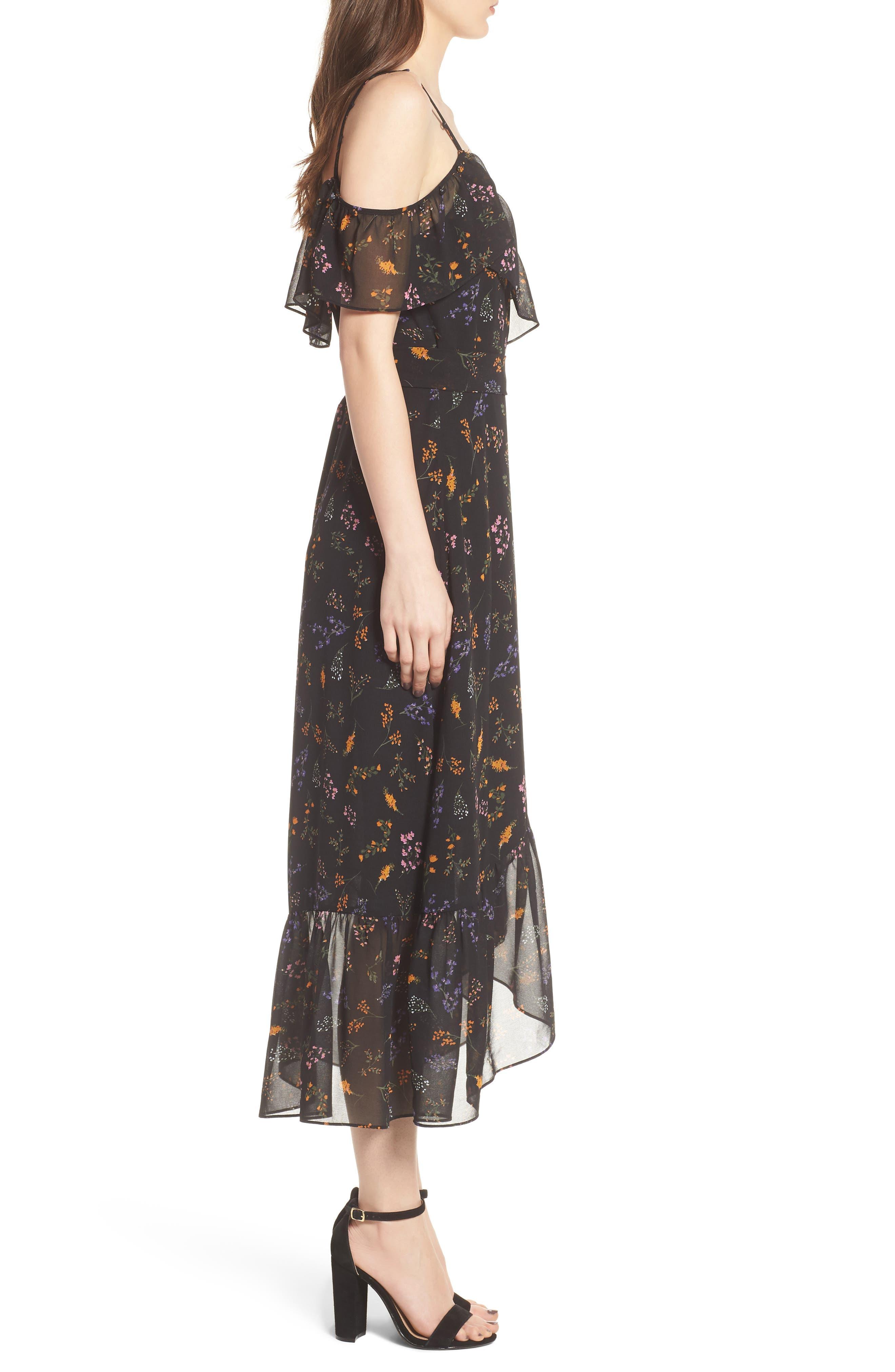 Jessica Wrap Dress,                             Alternate thumbnail 4, color,                             002