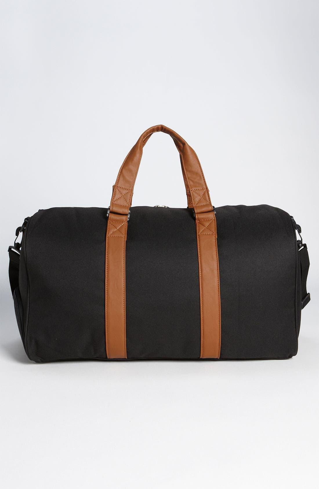 'Novel' Duffel Bag,                             Alternate thumbnail 11, color,                             BLACK/ TAN