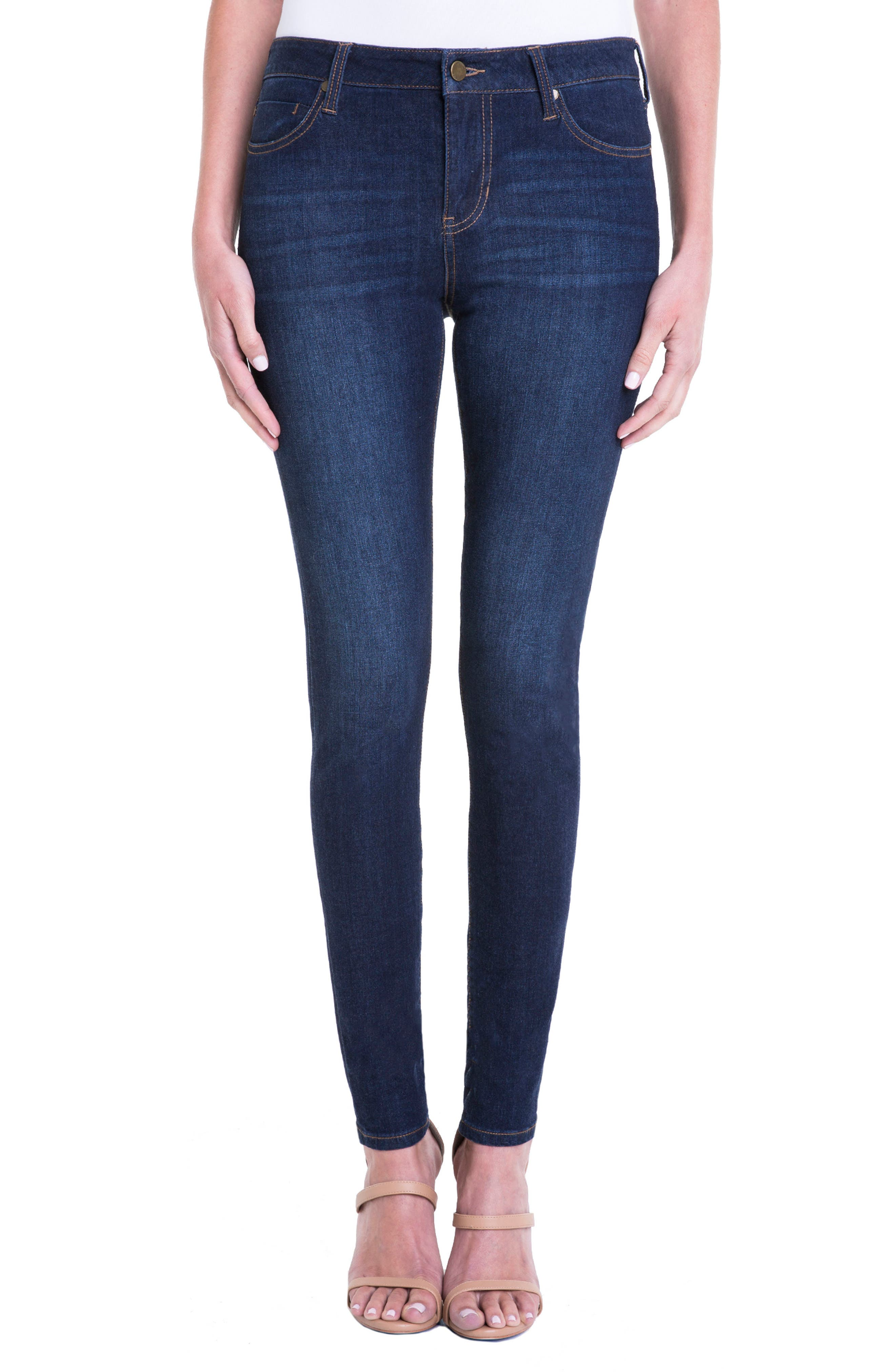 Abby Stretch Skinny Jeans,                             Main thumbnail 1, color,                             401