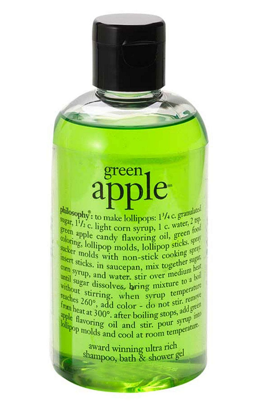 green apple shower gel,                             Main thumbnail 1, color,                             000
