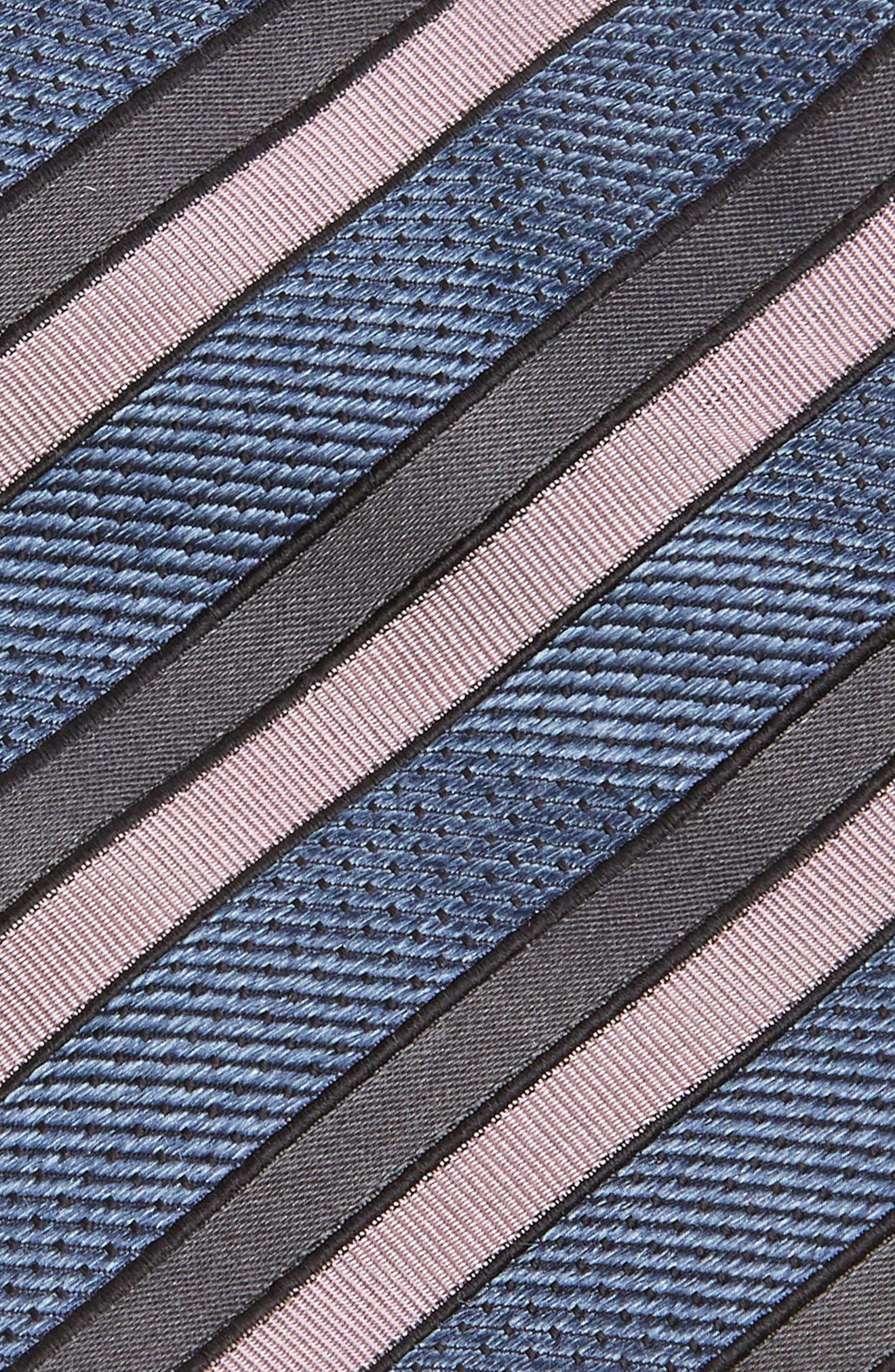 Jacquard Stripe Silk Tie,                             Alternate thumbnail 2, color,                             BLUE