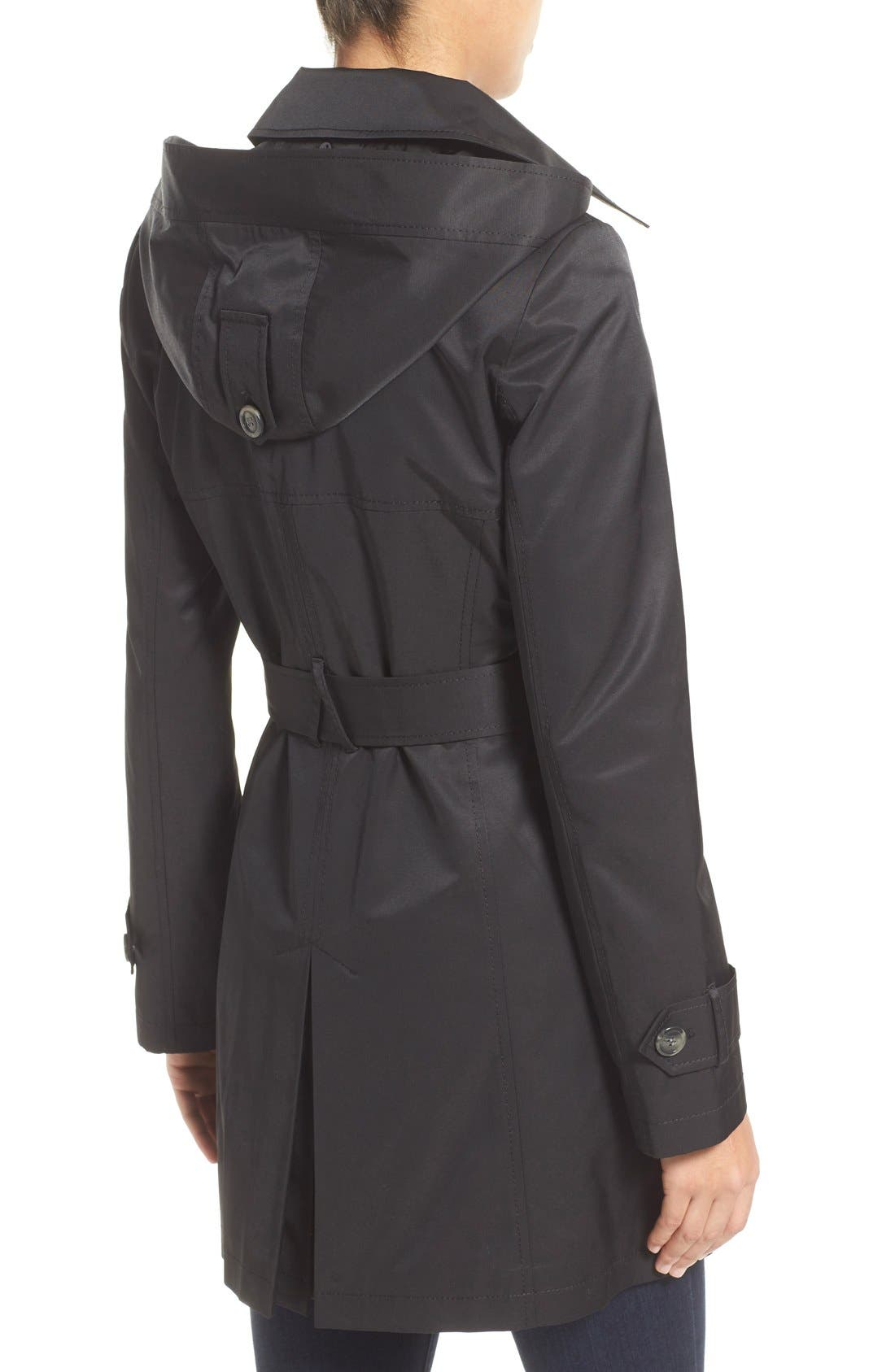 Detachable Hood Trench Coat,                             Alternate thumbnail 19, color,