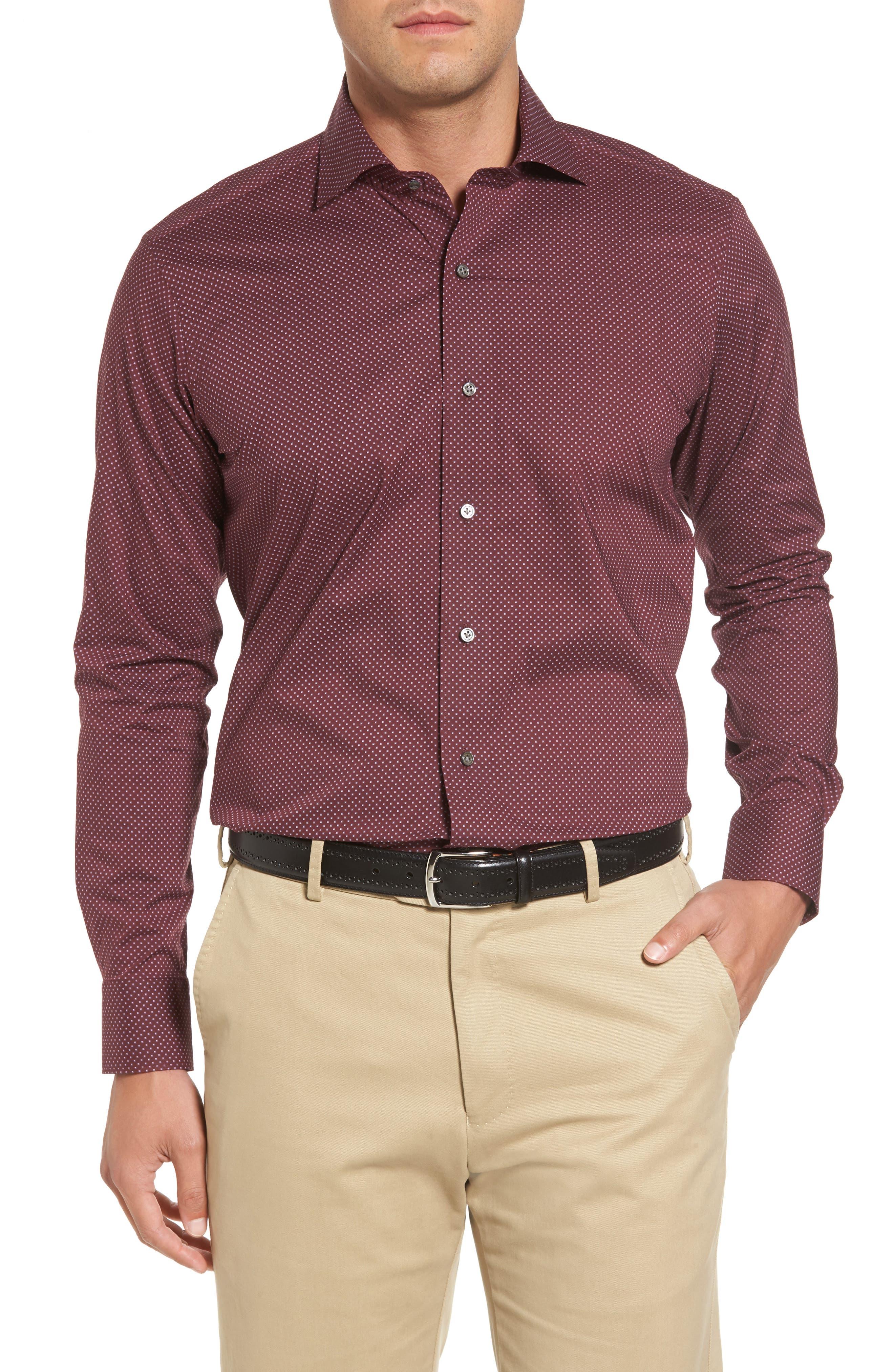 Peter Millar Woodland Fjord Regular Fit Print Sport Shirt,                         Main,                         color,