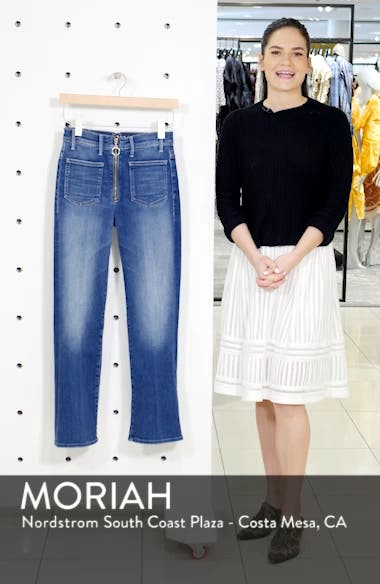 The Insider High Waist Patch Crop Bootcut Jeans, sales video thumbnail