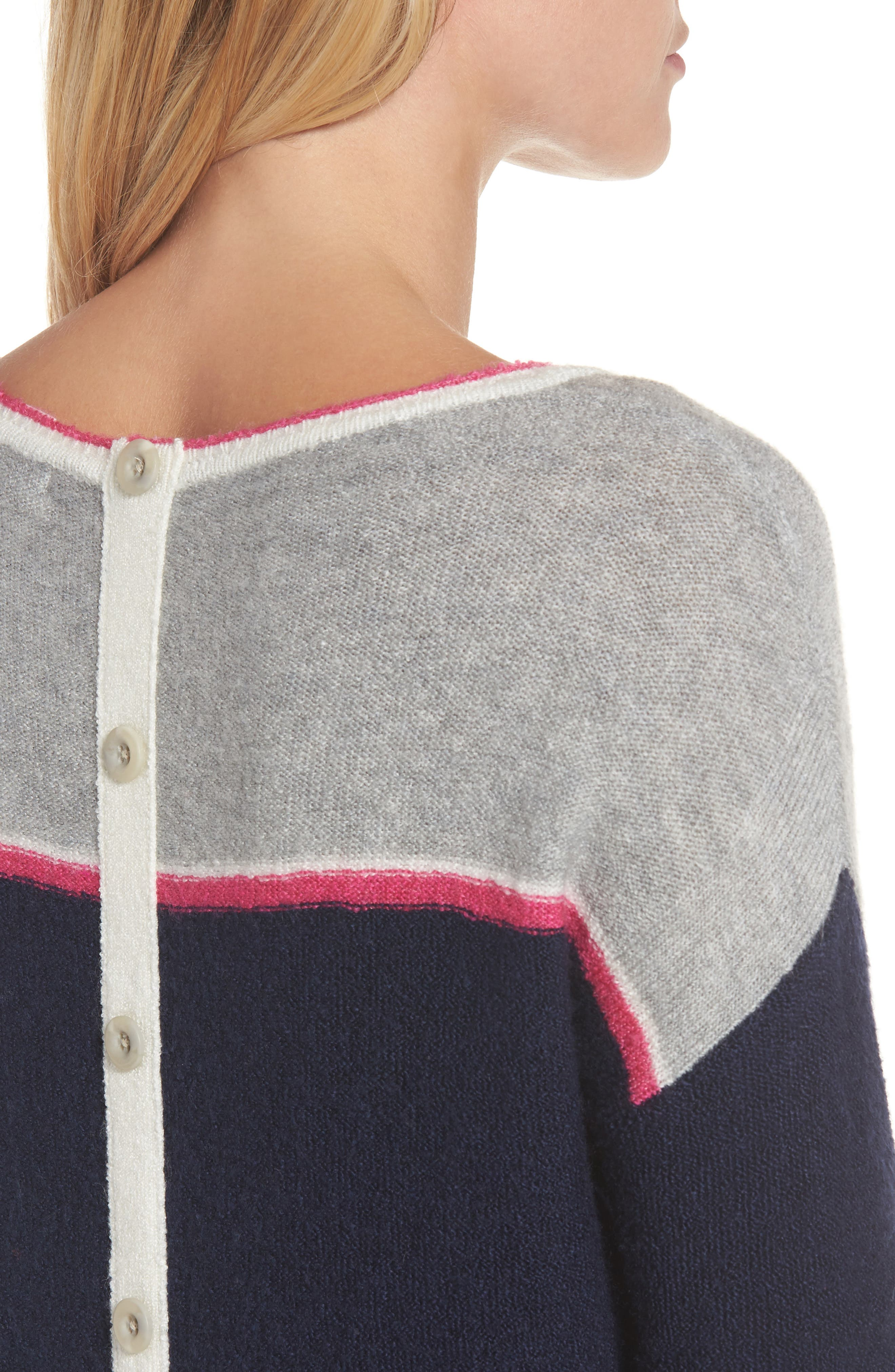 Button Back Sweater,                             Alternate thumbnail 4, color,                             410