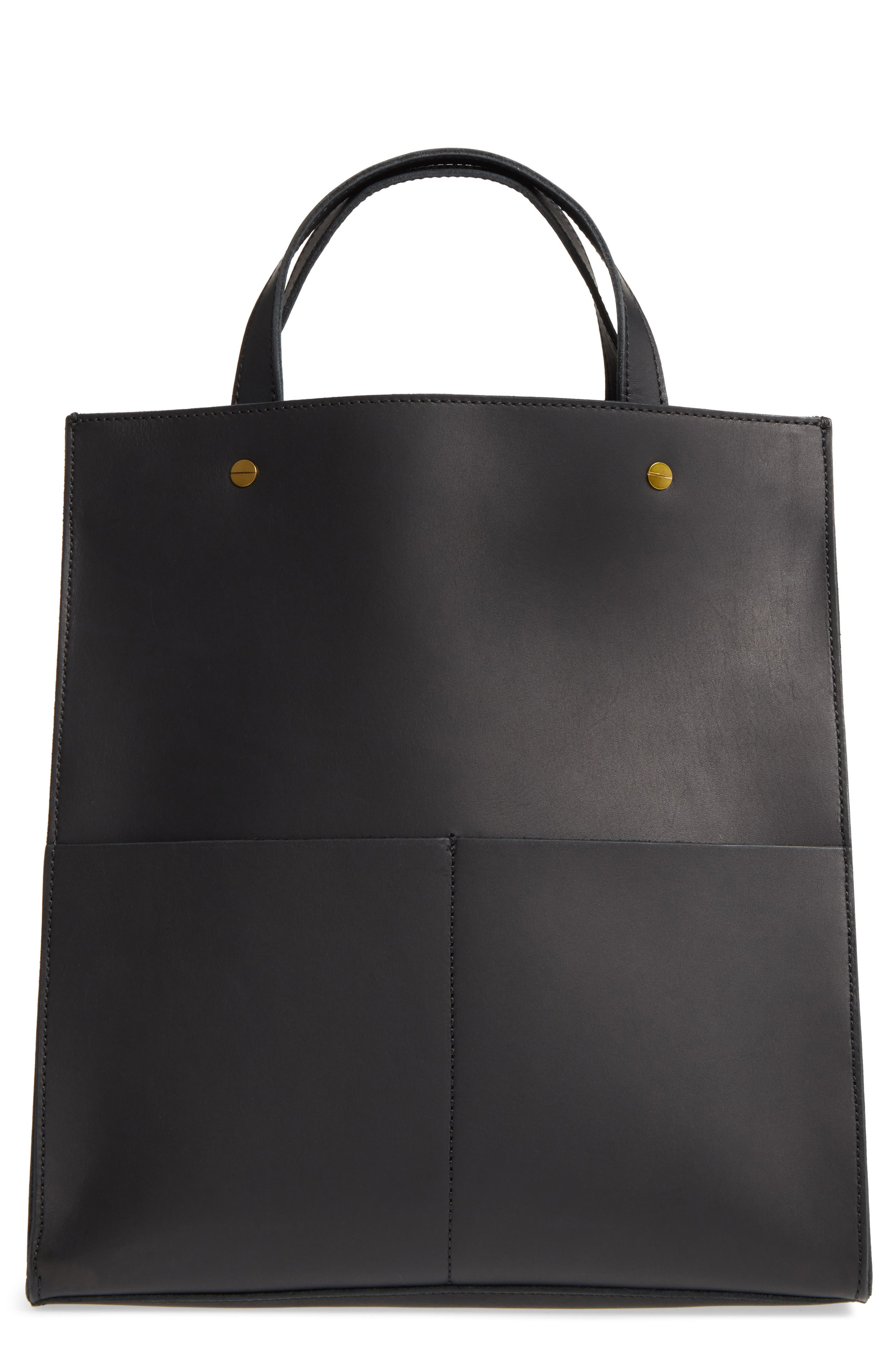 The Passenger Convertible Leather Tote,                         Main,                         color, 001