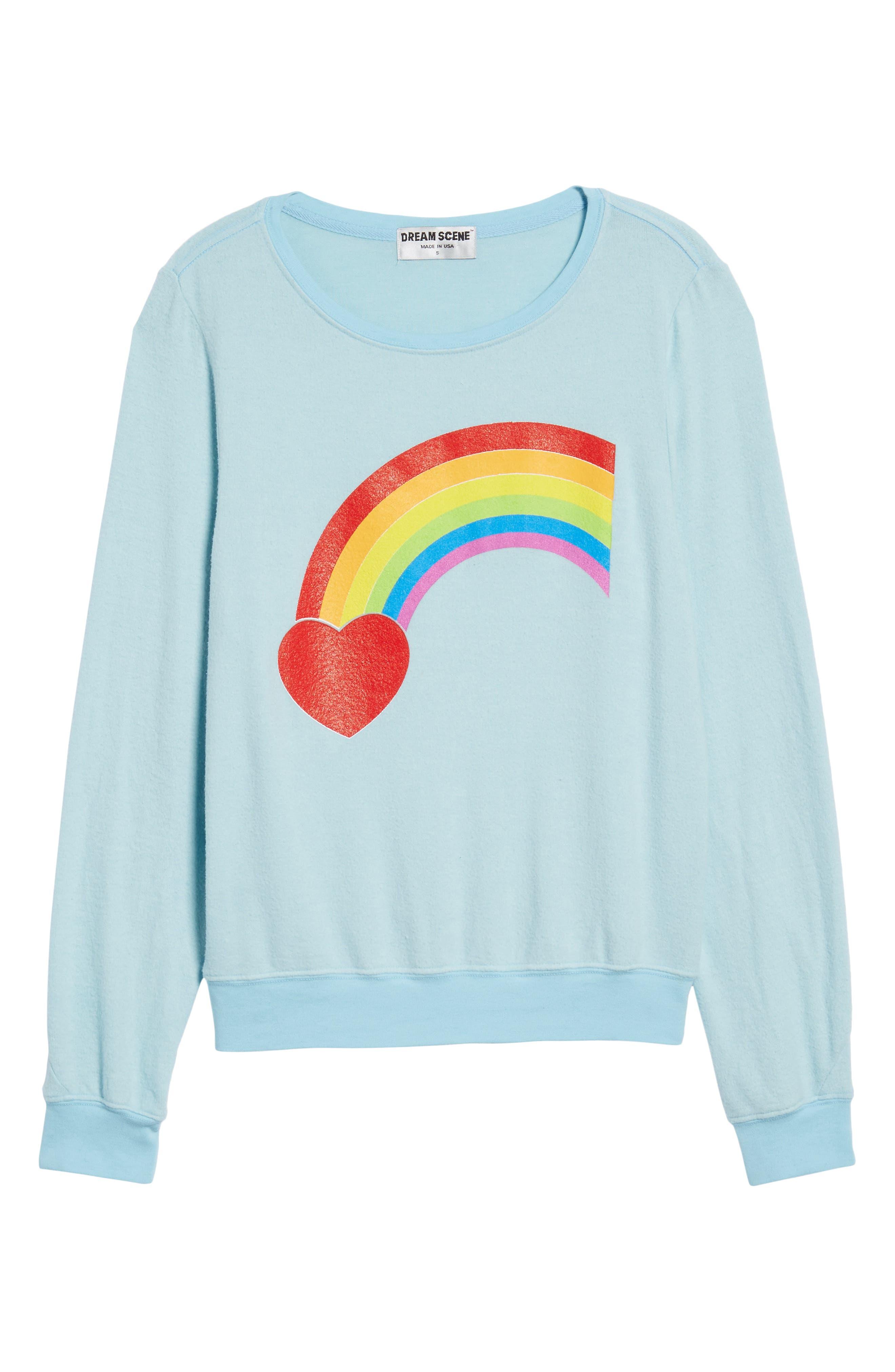 Rainbow Bright Sweatshirt,                             Alternate thumbnail 6, color,                             460
