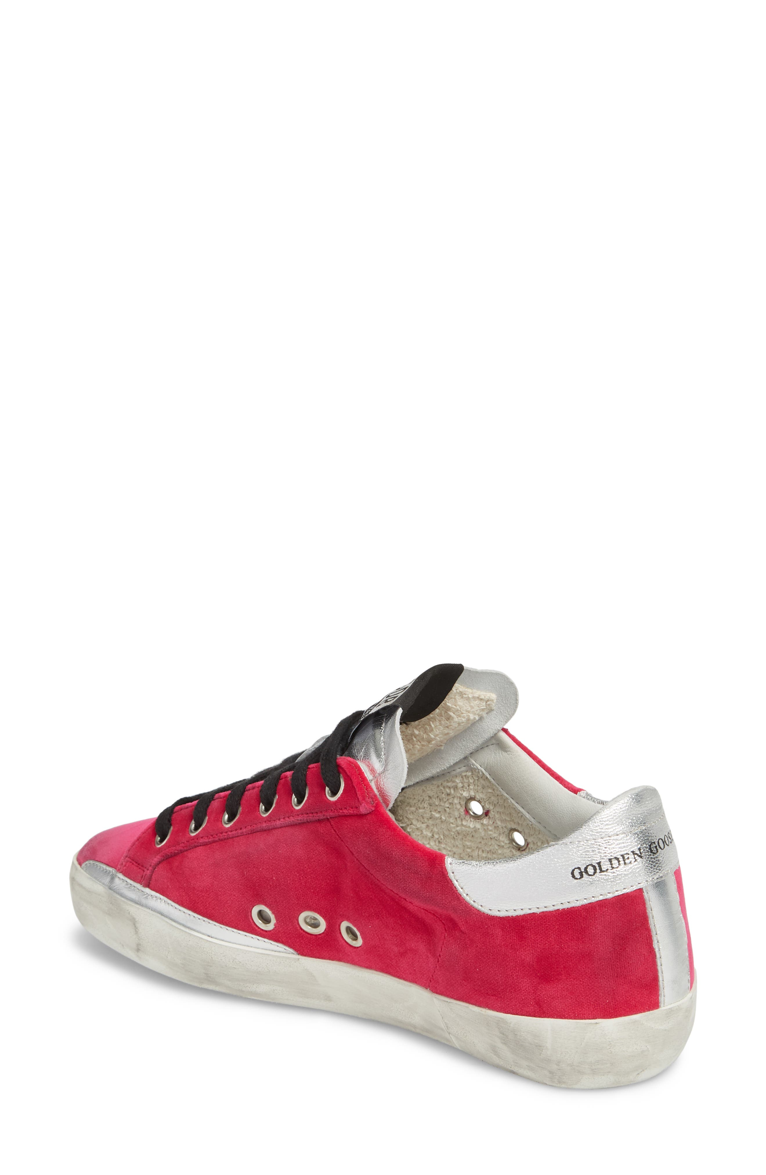 Superstar Low Top Sneaker,                             Alternate thumbnail 2, color,                             FUCHSIA/ BLACK