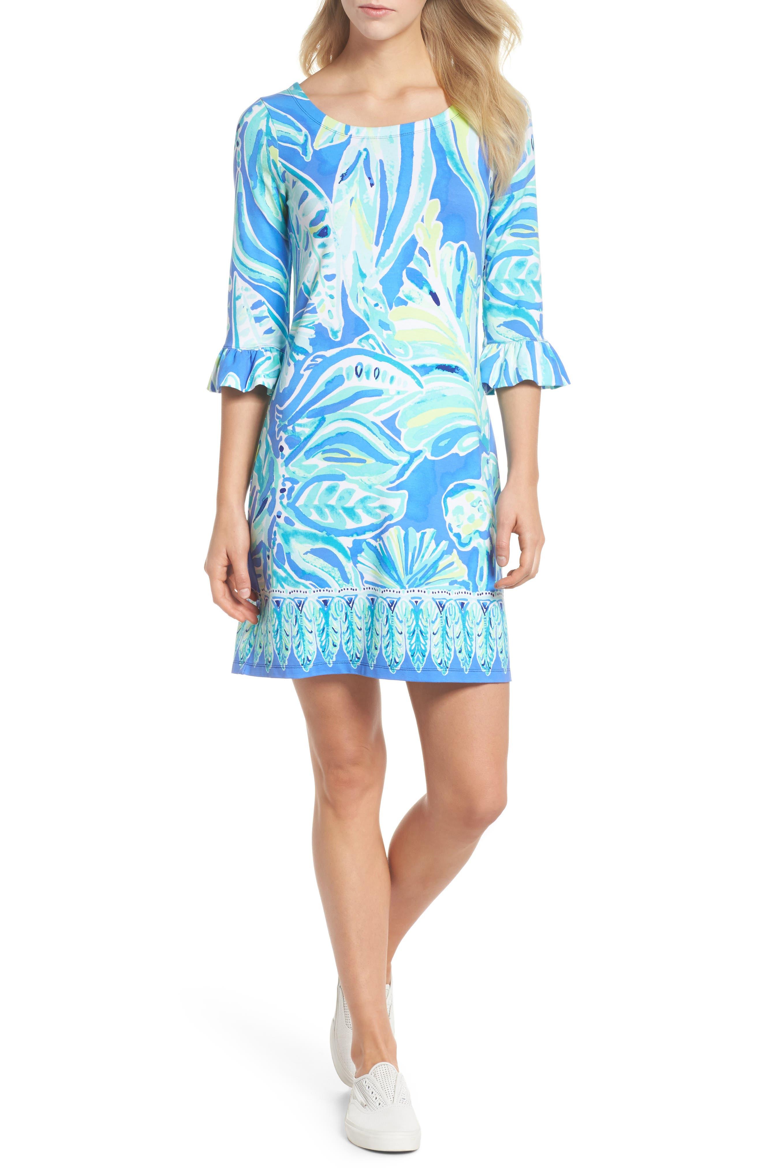 Sophie UPF 50+ Shift Dress,                             Alternate thumbnail 5, color,                             440
