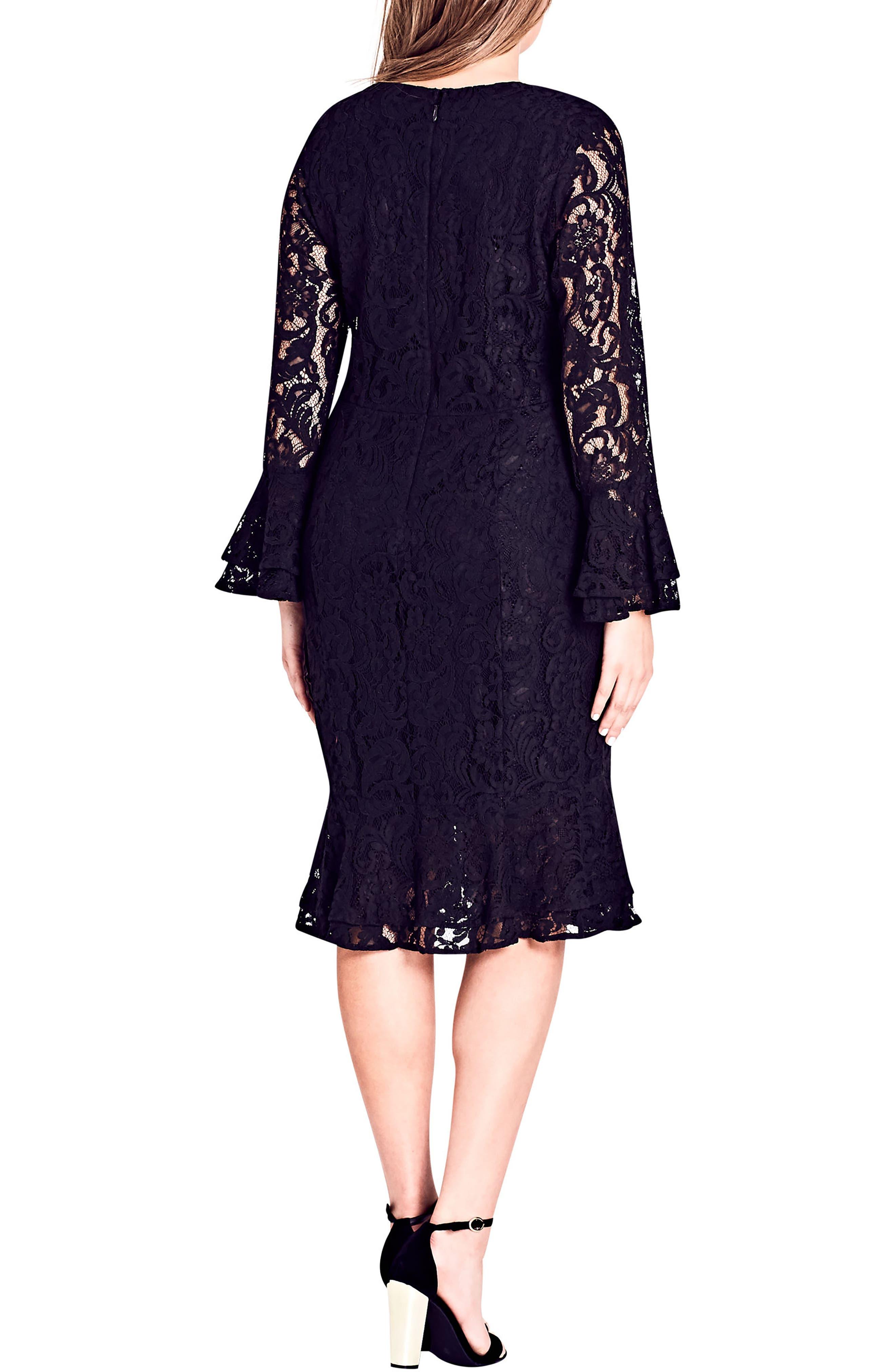 Lace Desire Dress,                             Alternate thumbnail 2, color,                             BLACK