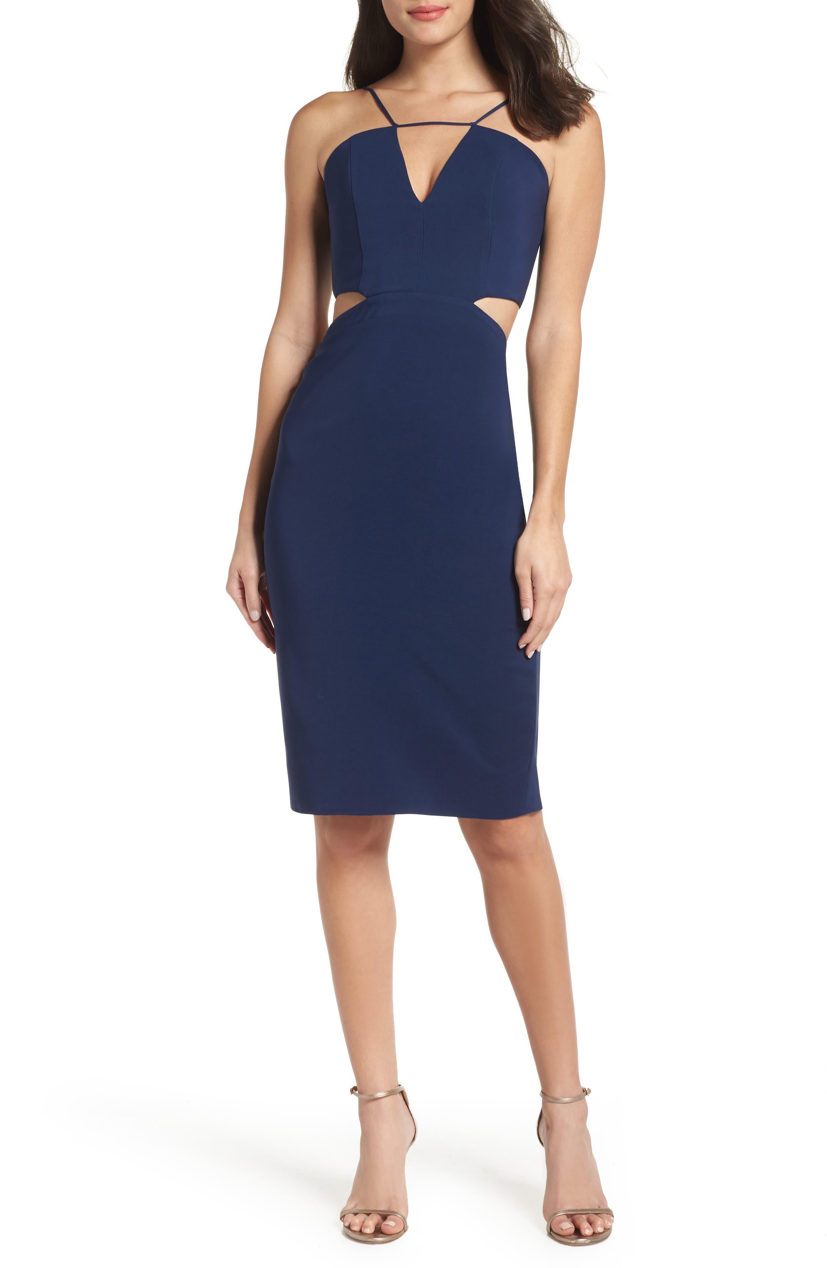 Maria Bianca Nero Melani Strappy Cutout Dress, Blue