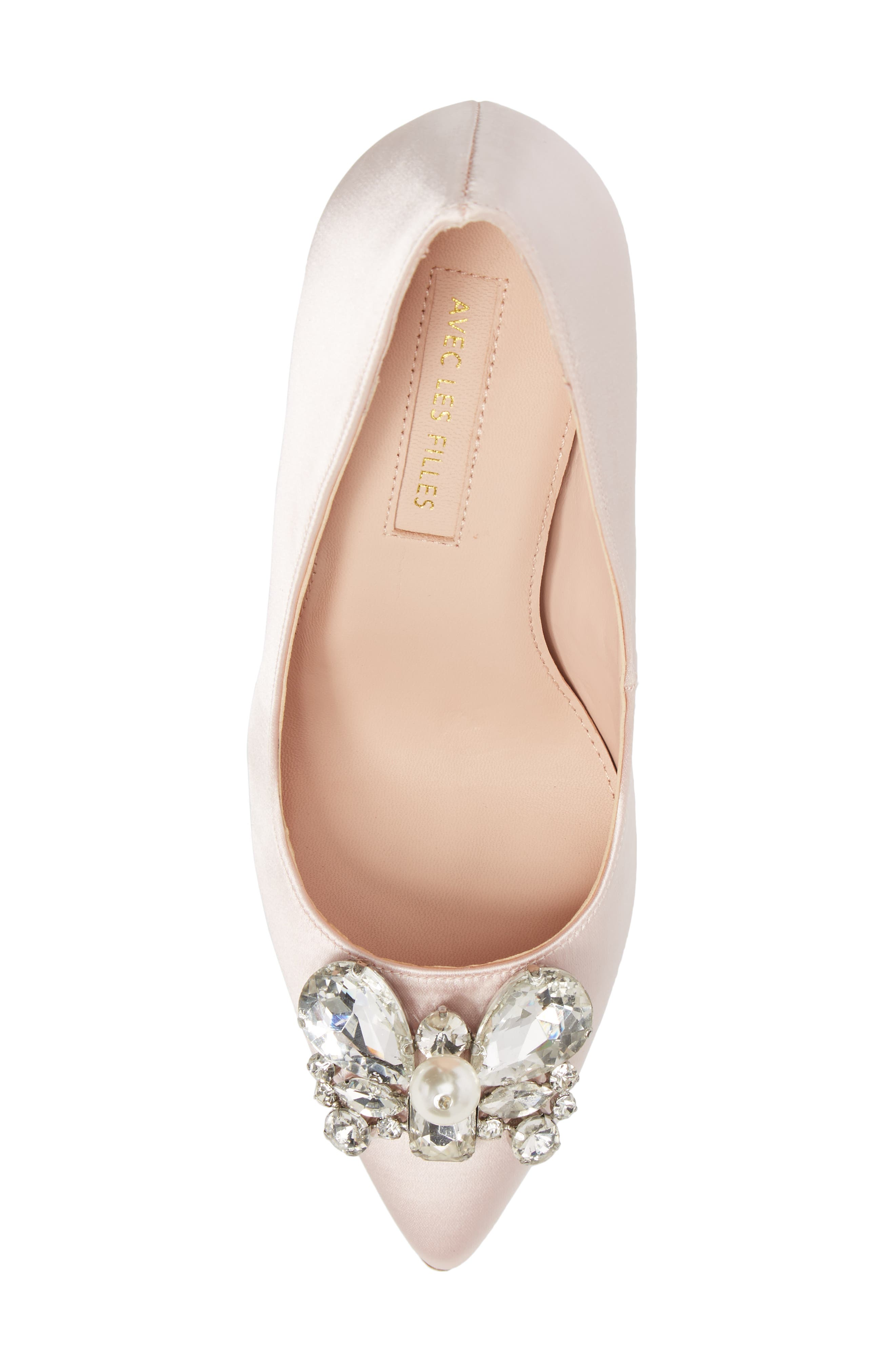 Chiara Embellished Pointy Toe Pump,                             Alternate thumbnail 10, color,