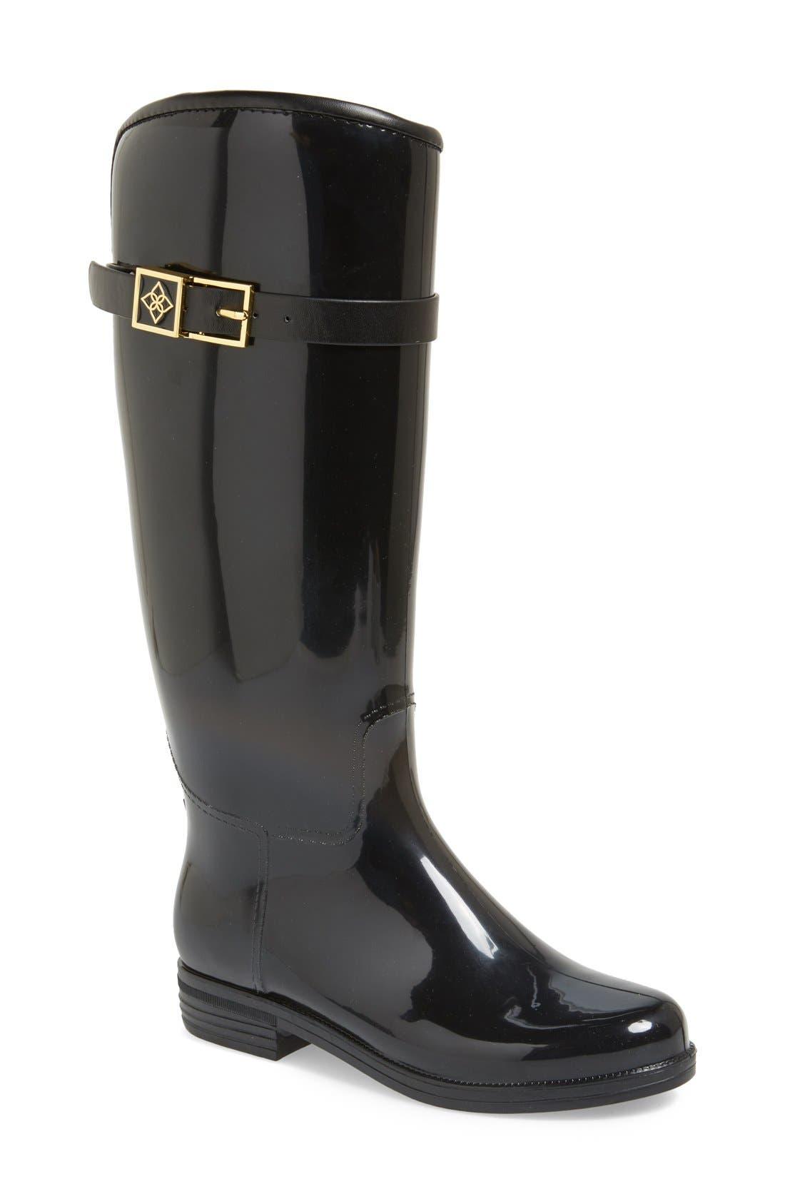 Bristol Weatherproof Knee High Rain Boot,                             Main thumbnail 1, color,                             001