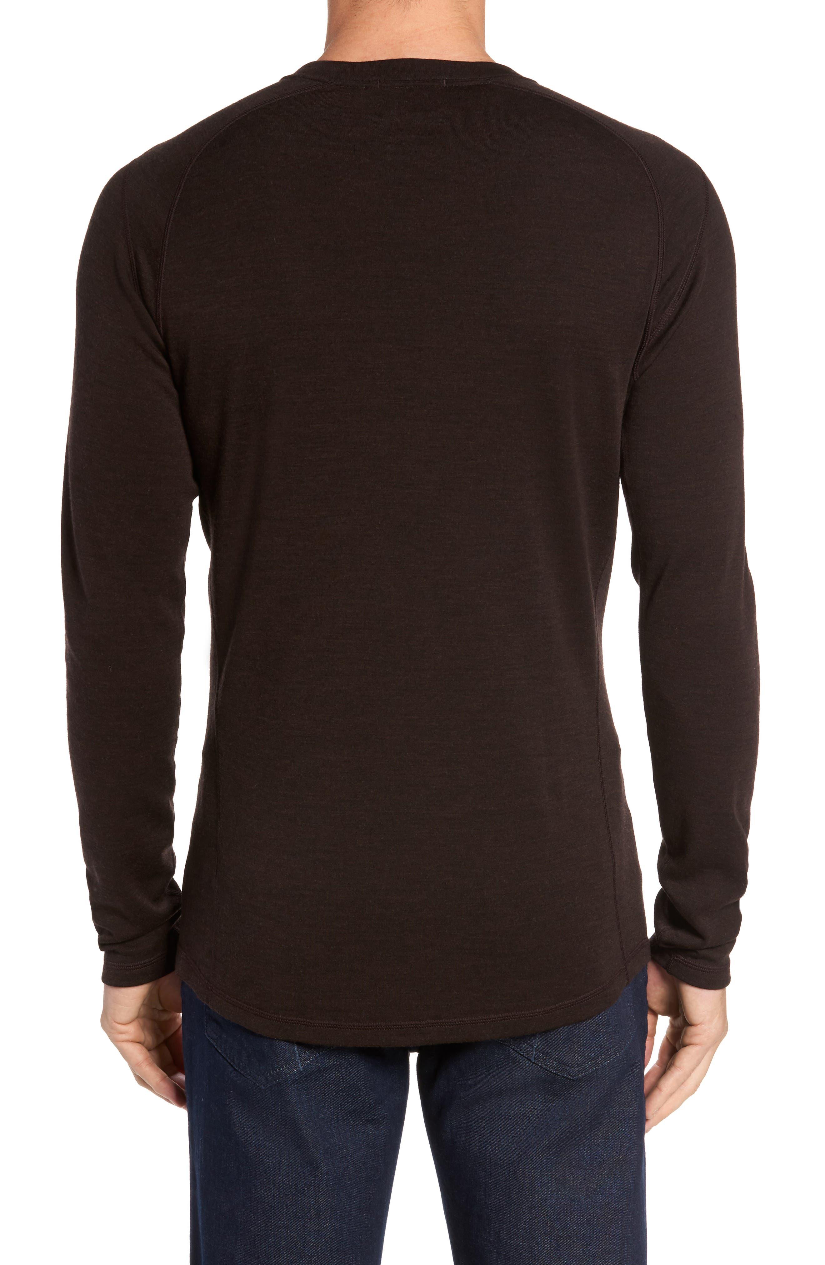 Merino 250 Base Layer Crewneck T-Shirt,                             Alternate thumbnail 2, color,                             SUMATRA HEATHER