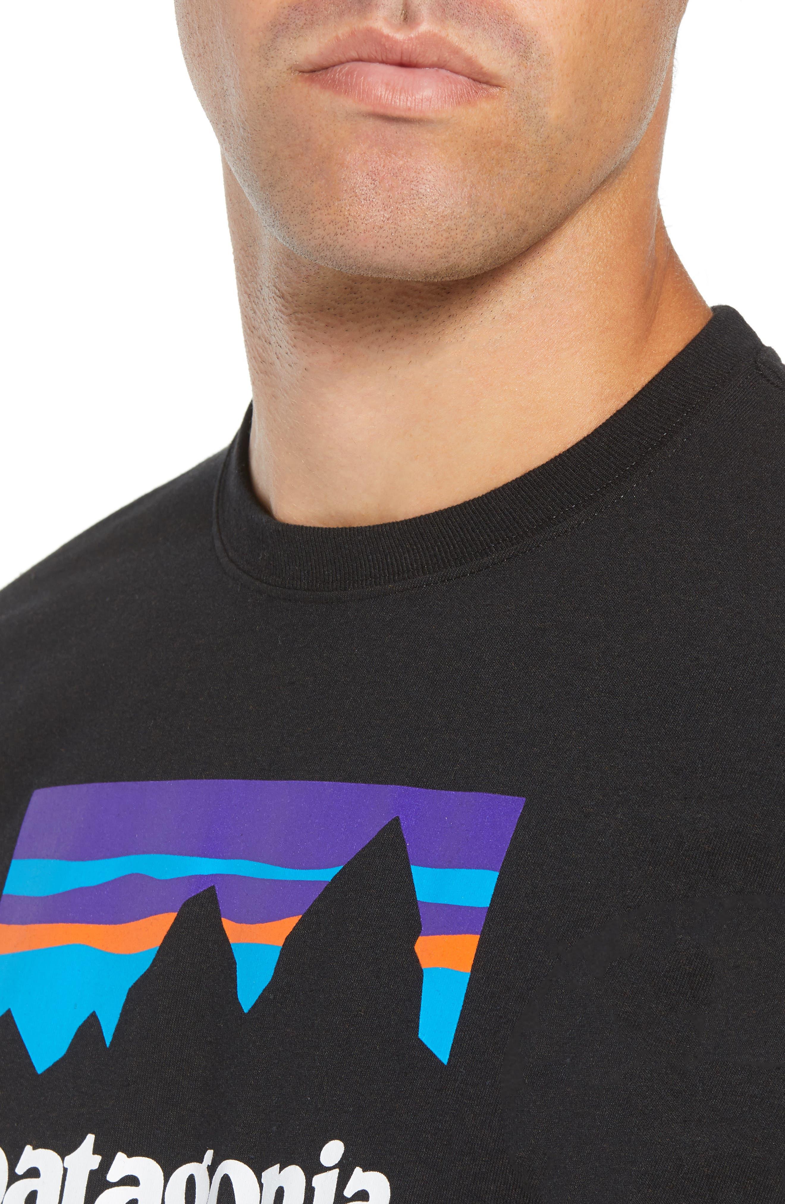 Shop Sticker Responsibili-Tee T-Shirt,                             Alternate thumbnail 4, color,                             BLACK