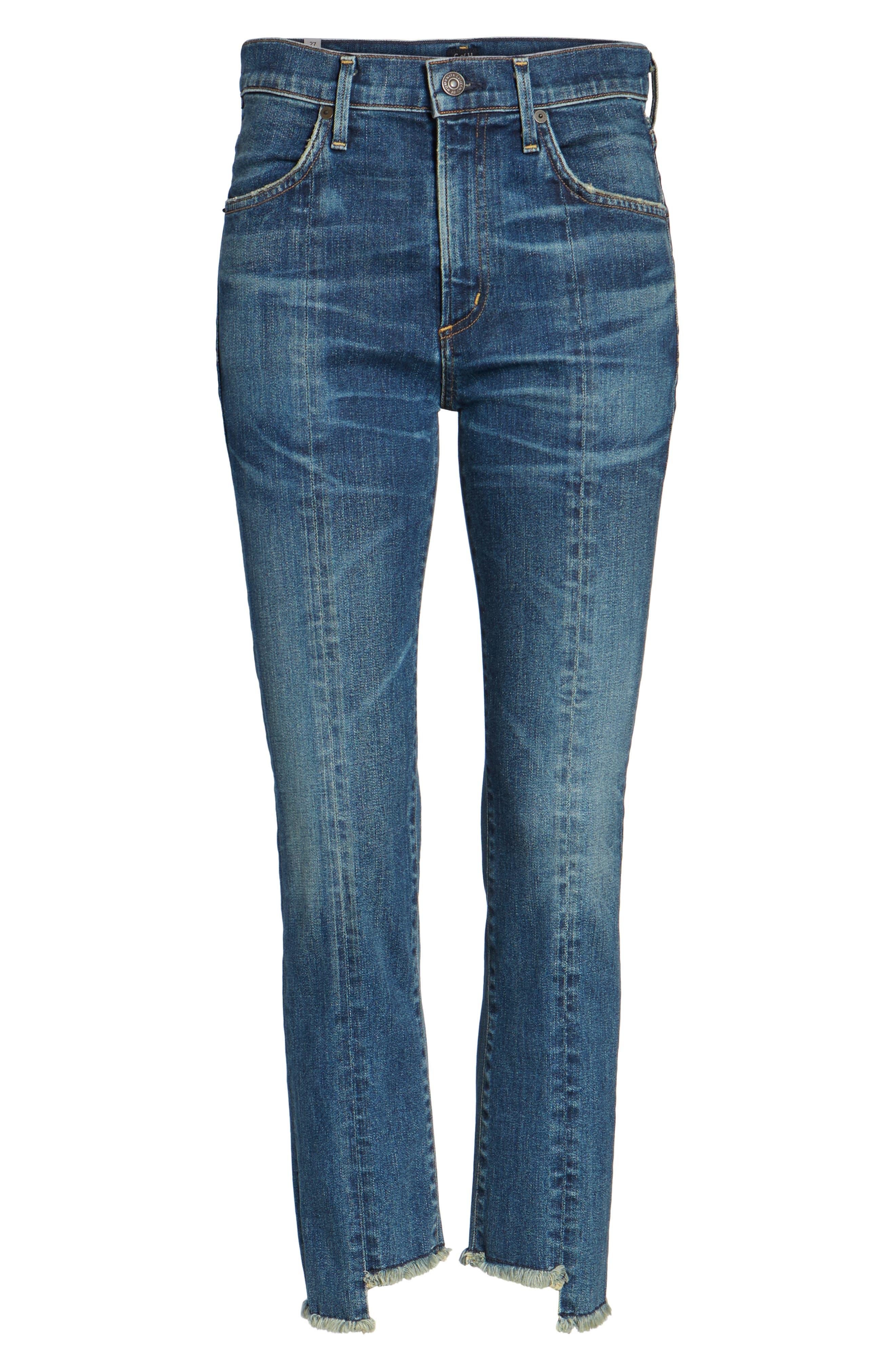 Amari Step Hem Ankle Jeans,                             Alternate thumbnail 6, color,                             429
