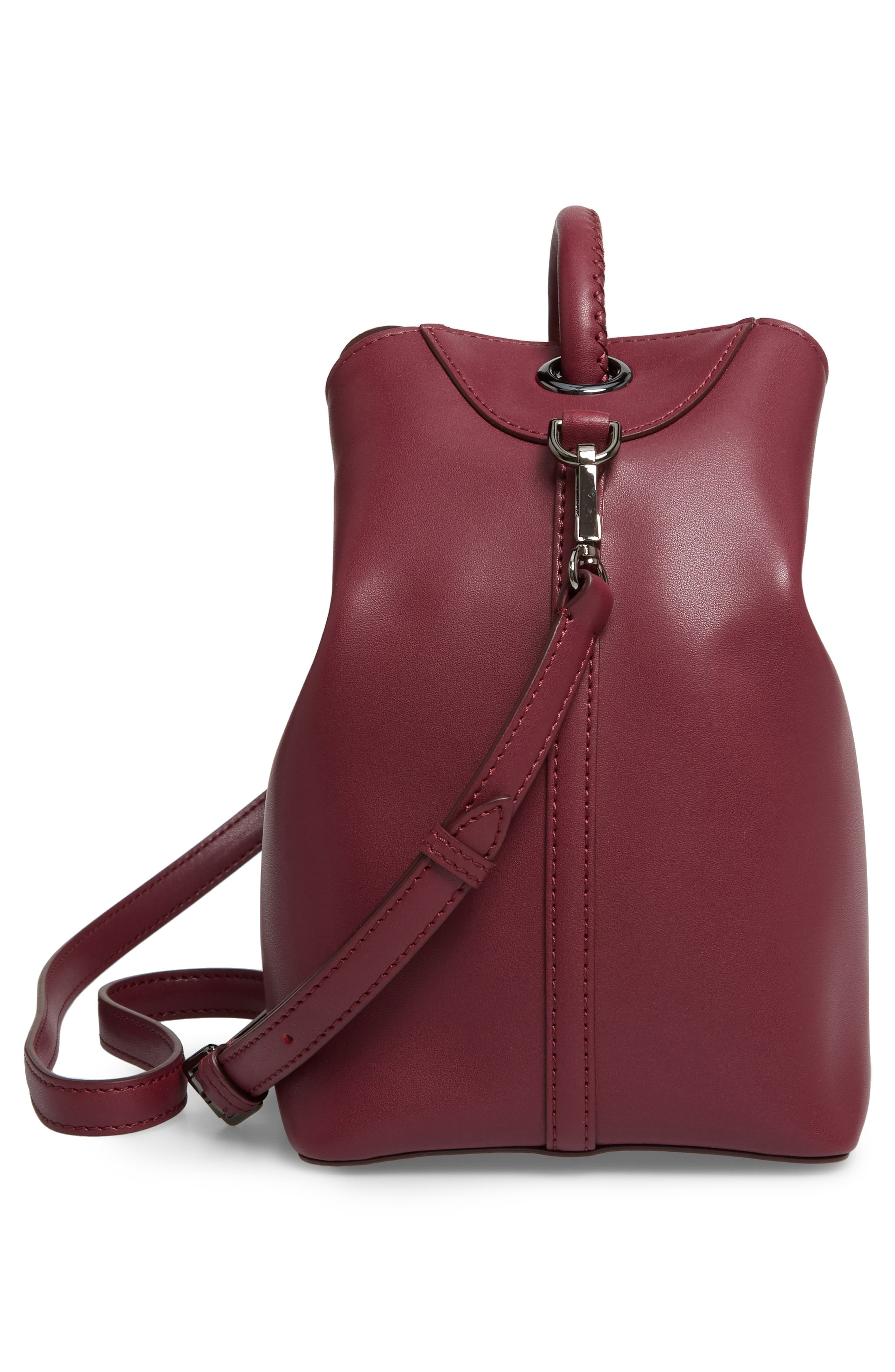 Raisin Leather Handbag,                             Alternate thumbnail 40, color,