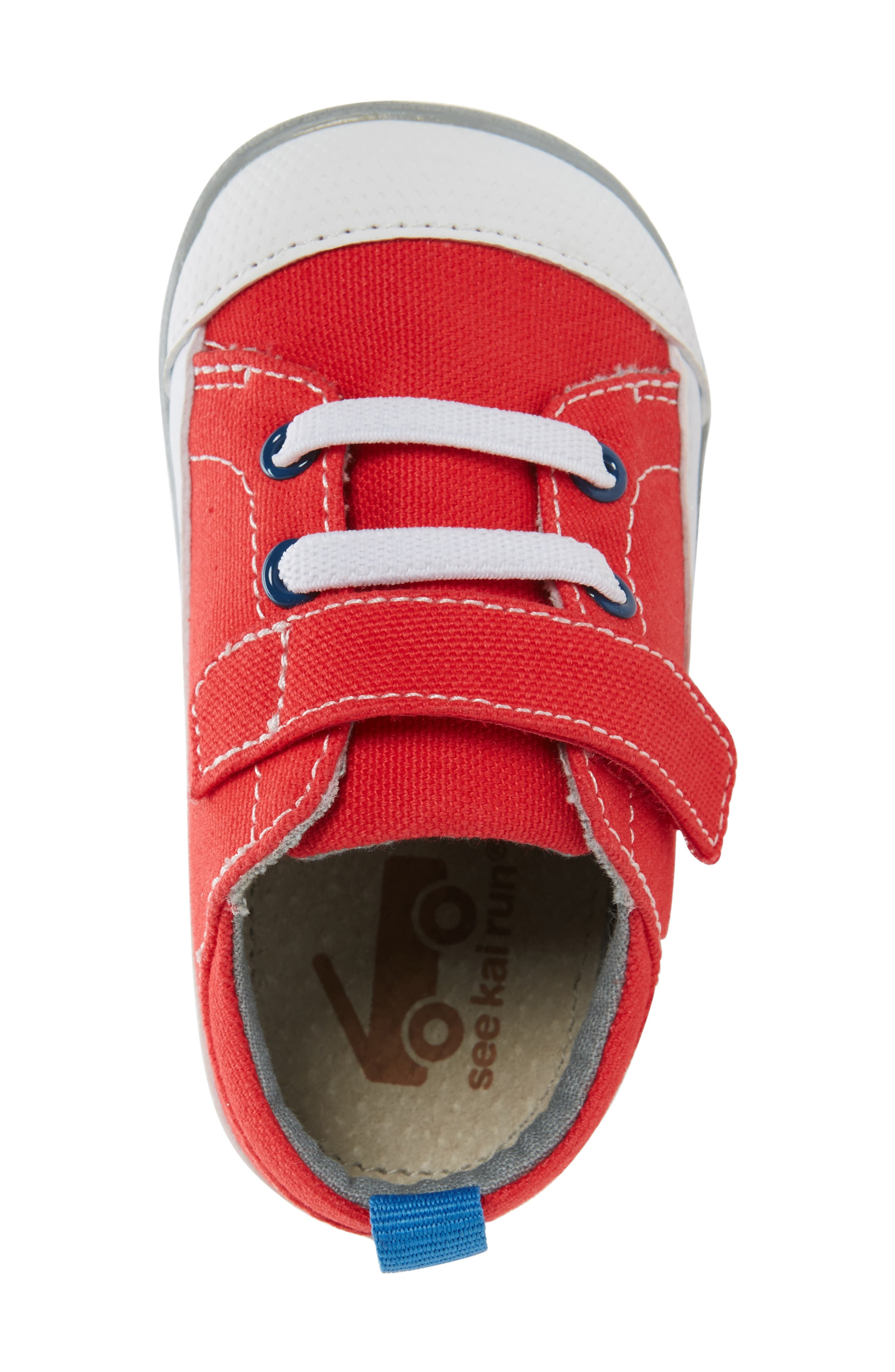 Stevie II Sneaker,                             Alternate thumbnail 5, color,                             RED CANVAS