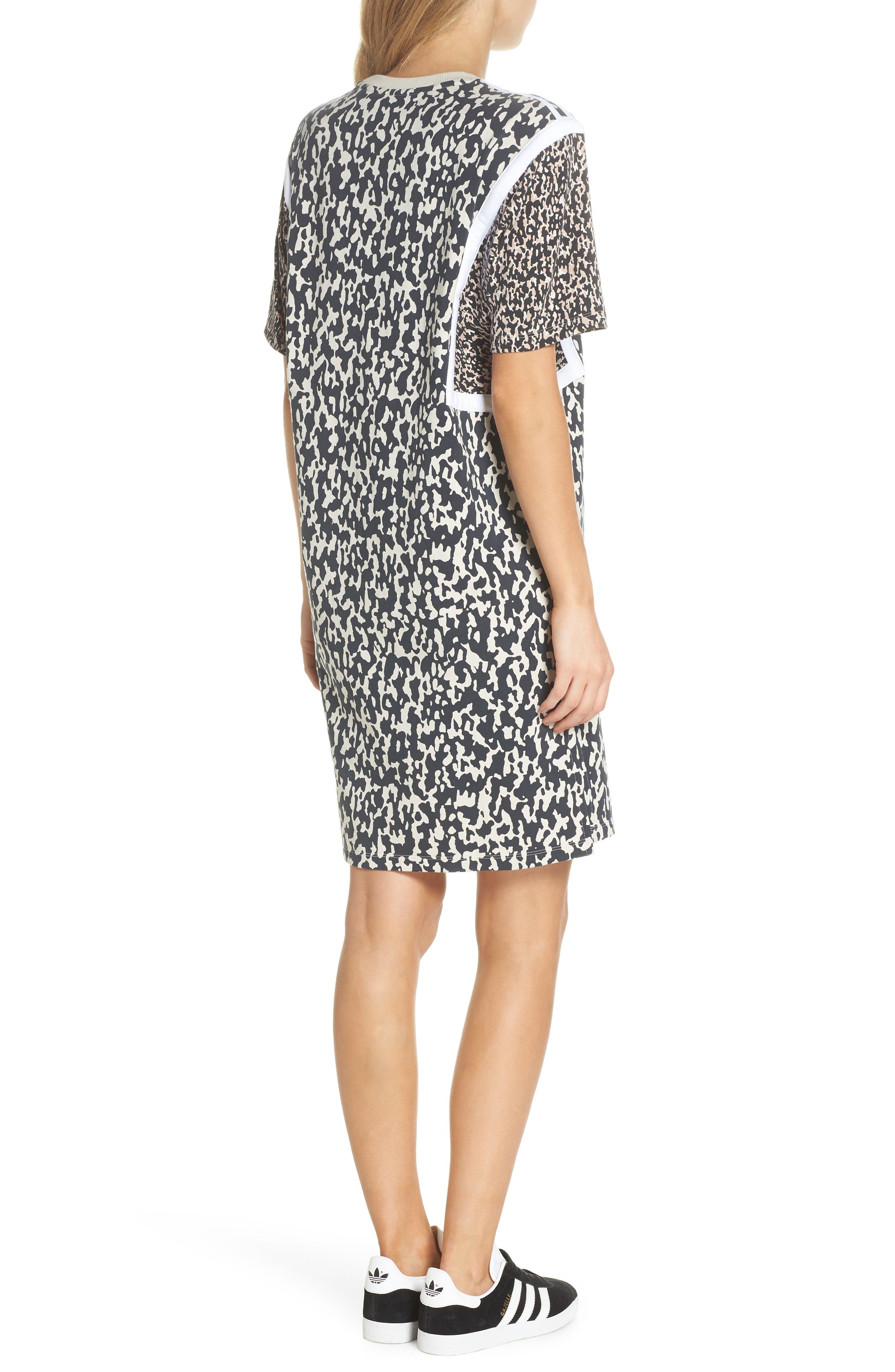 adidas Animal Print Shift Dress,                             Alternate thumbnail 2, color,                             250