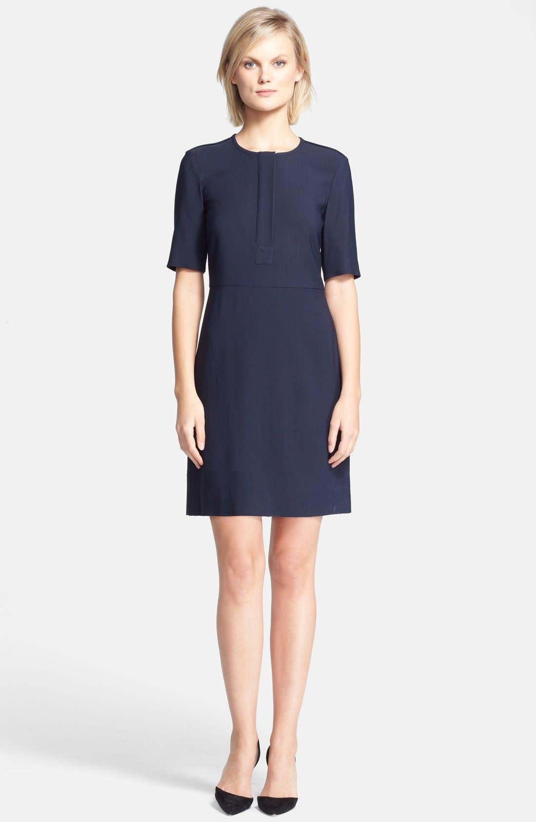 THEORY 'Slyra' Quarter Zip A-Line Dress, Main, color, 410