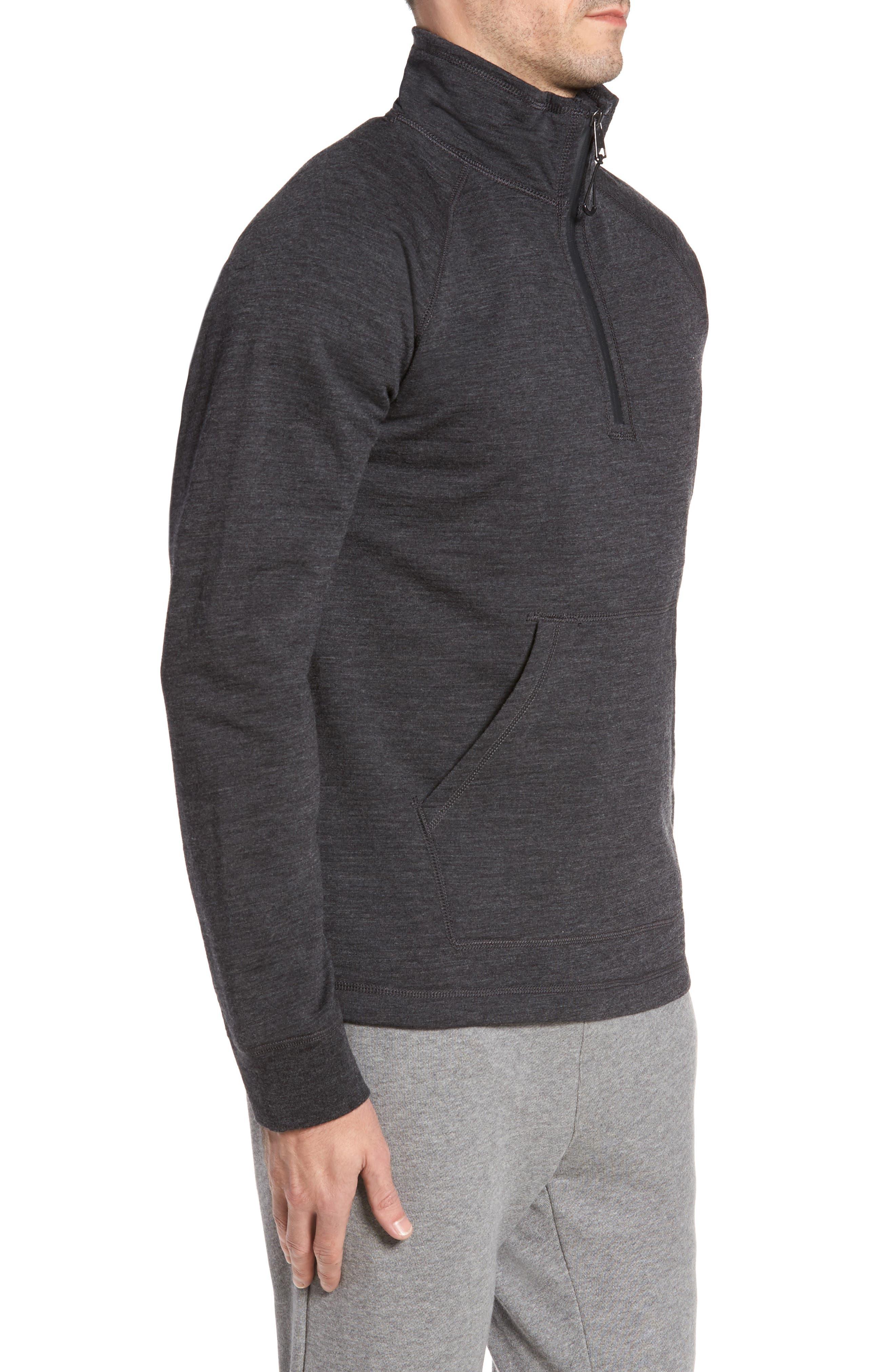 Merino Wool Quarter Zip Pullover,                             Alternate thumbnail 3, color,                             010