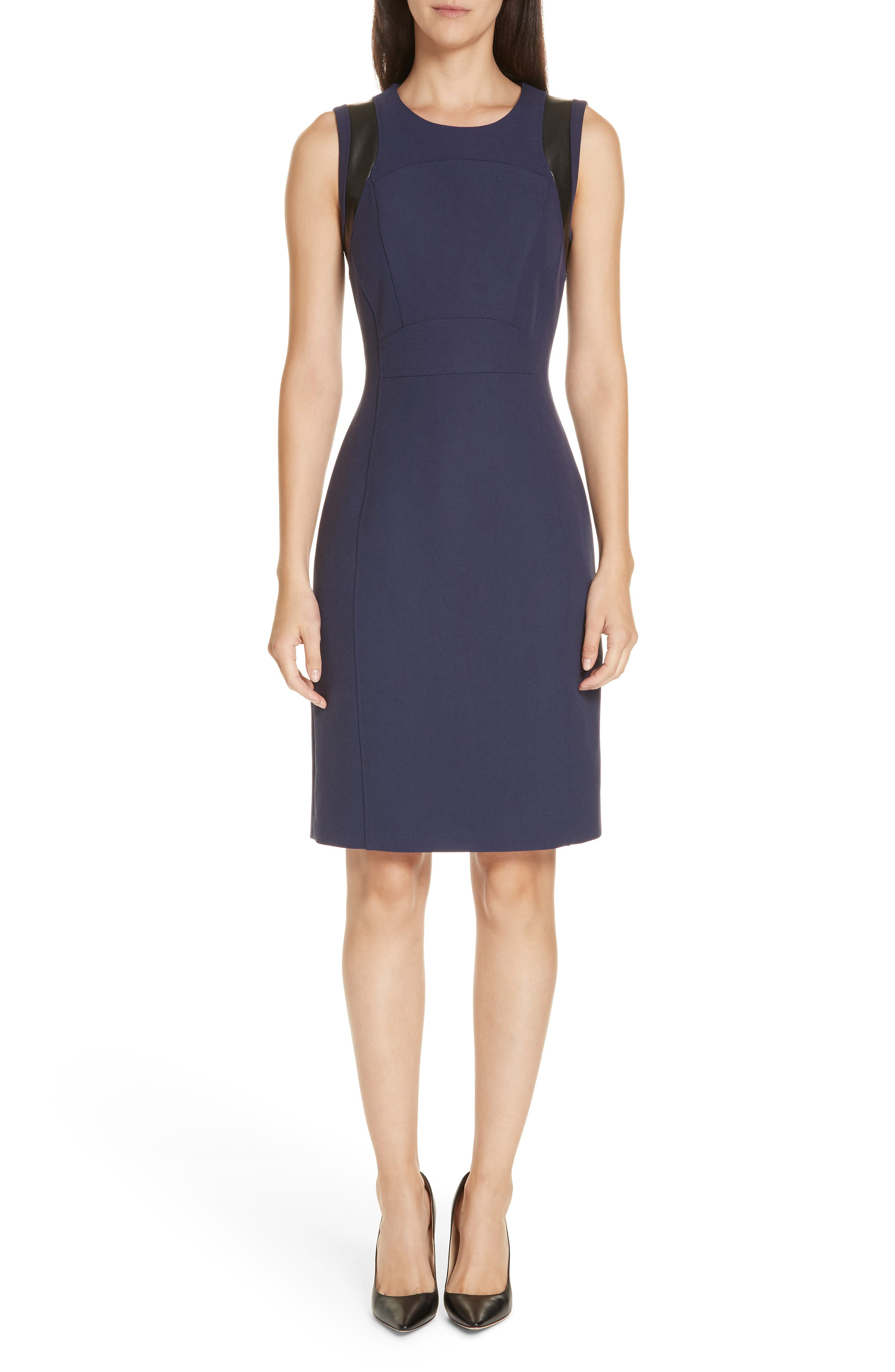 Boss Daleta Sheath Dress, Blue