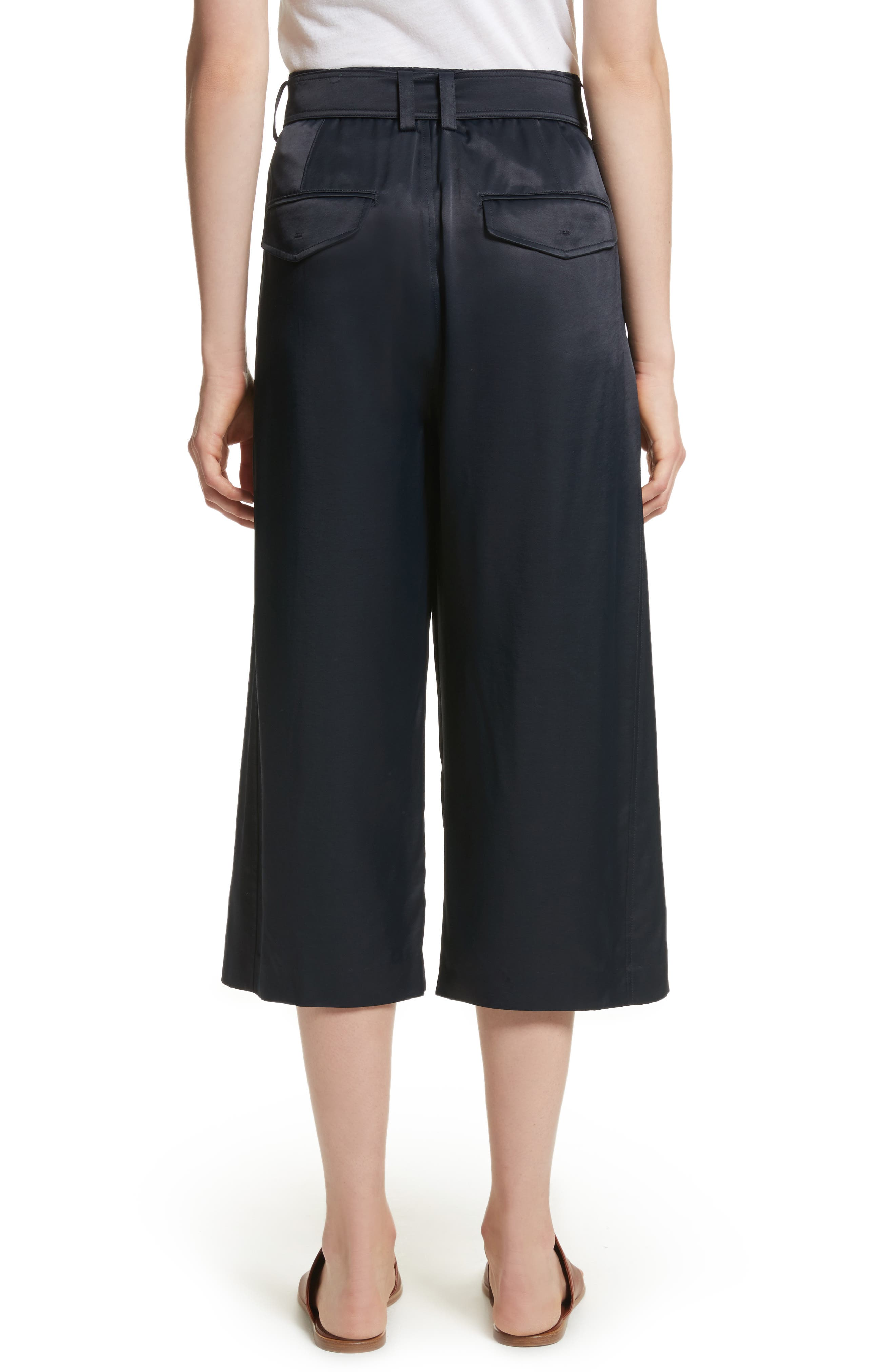 Belted Crossover Culottes,                             Alternate thumbnail 3, color,