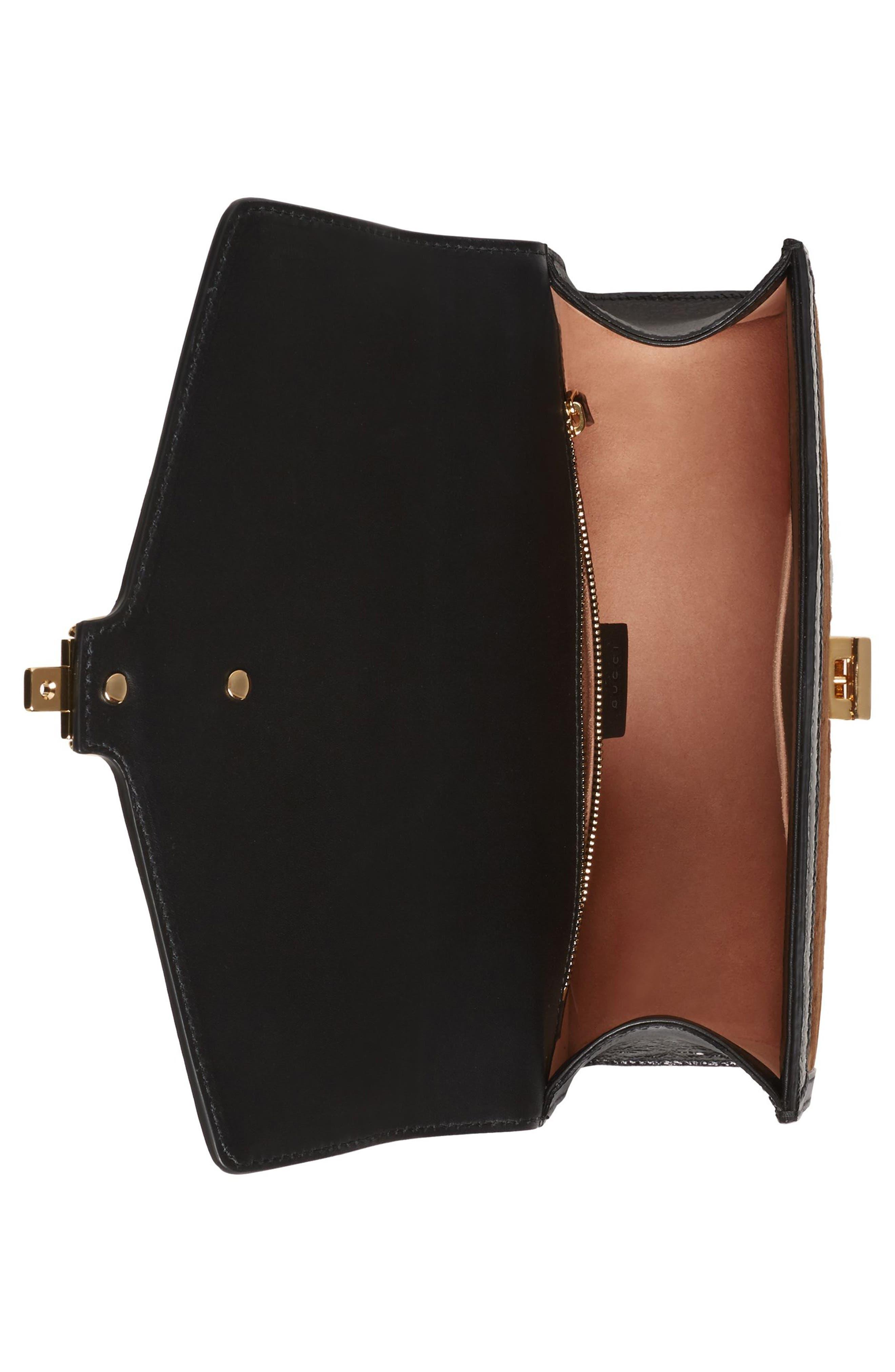 Small Sylvie Velvet Shoulder Bag,                             Alternate thumbnail 3, color,                             BROWN/ NERO/ VERT RED