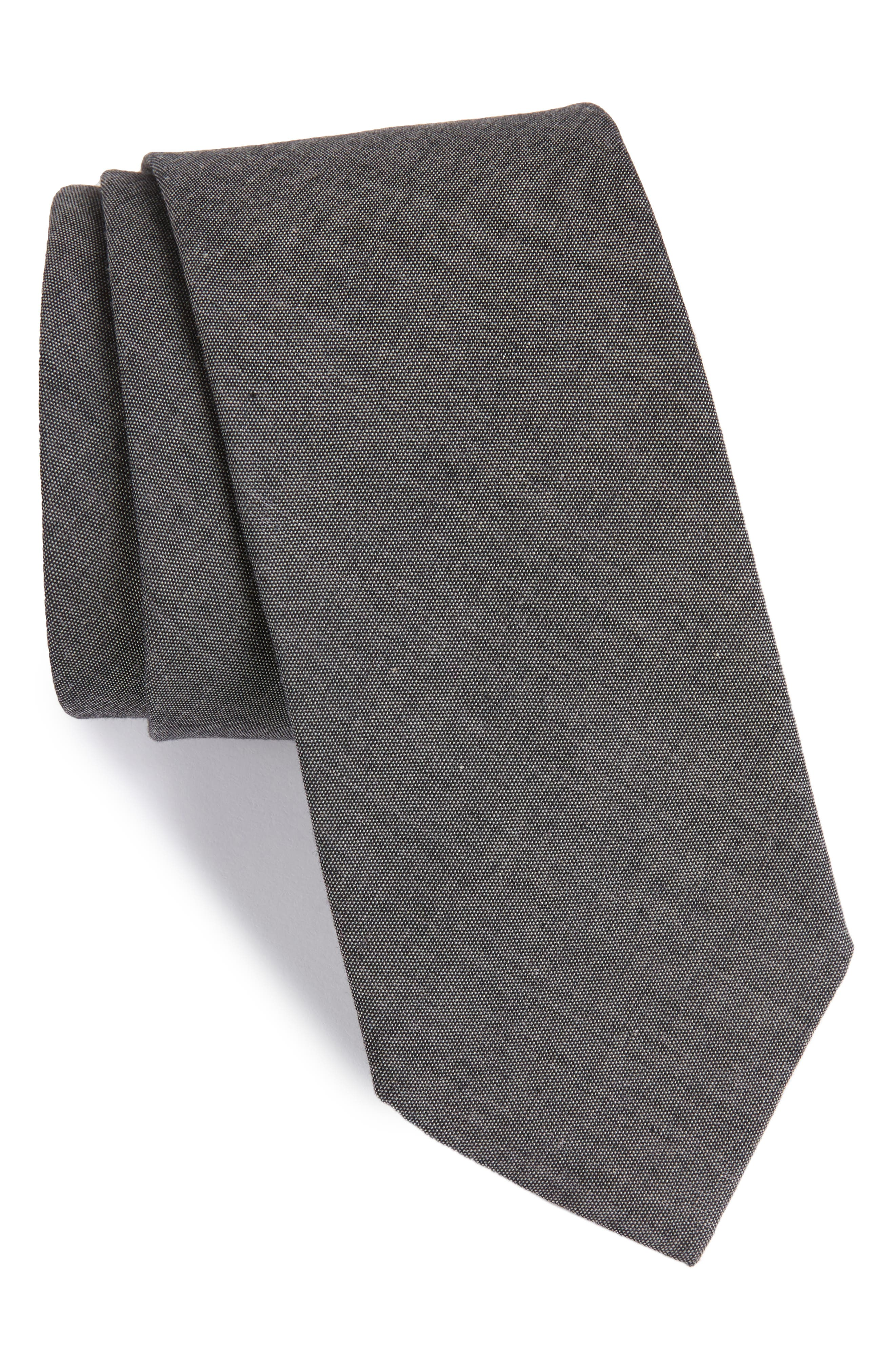 Classic Chambray Cotton Tie,                             Main thumbnail 1, color,                             035