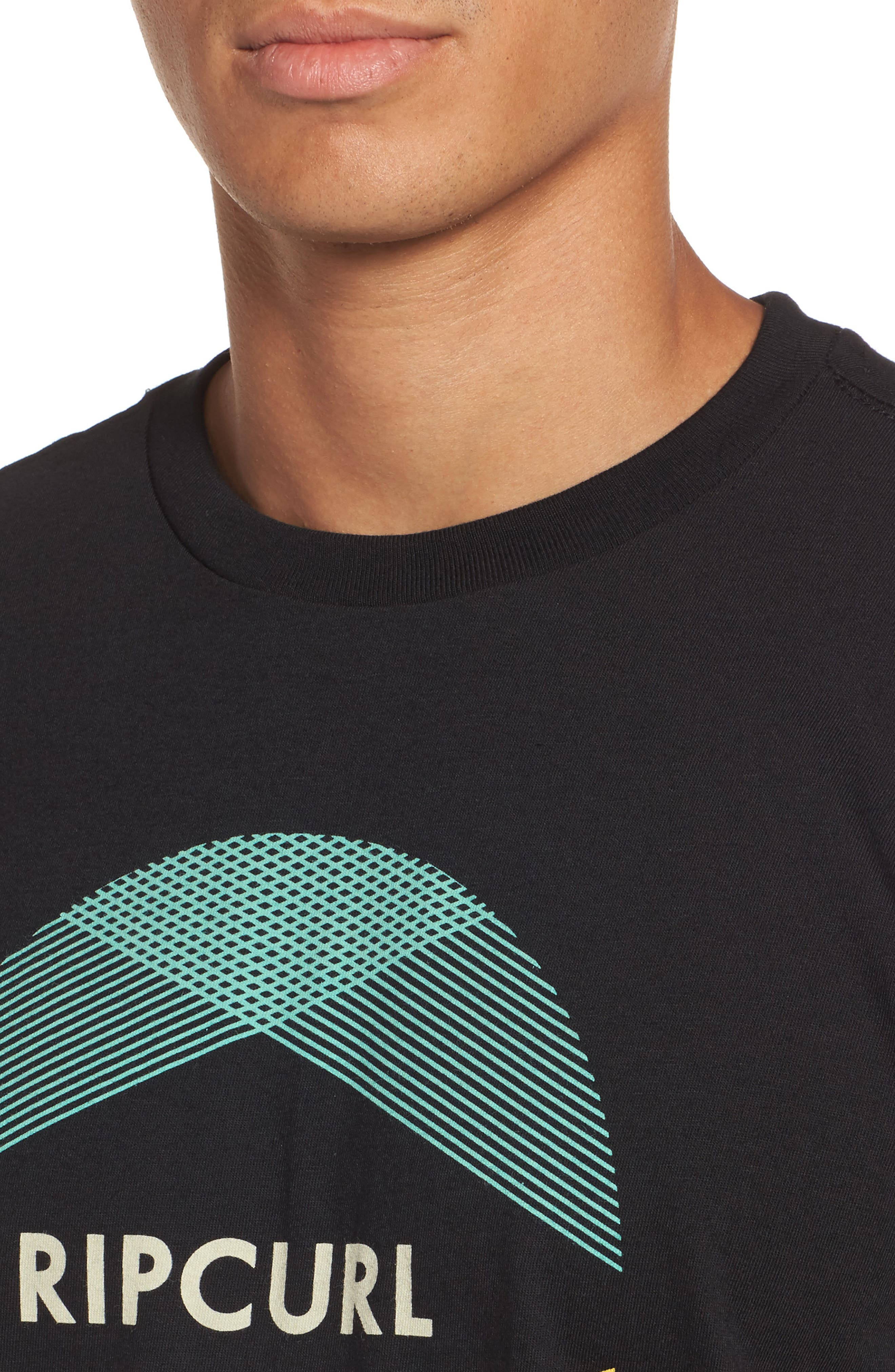 Calypso Classic Logo Graphic T-Shirt,                             Alternate thumbnail 4, color,                             001