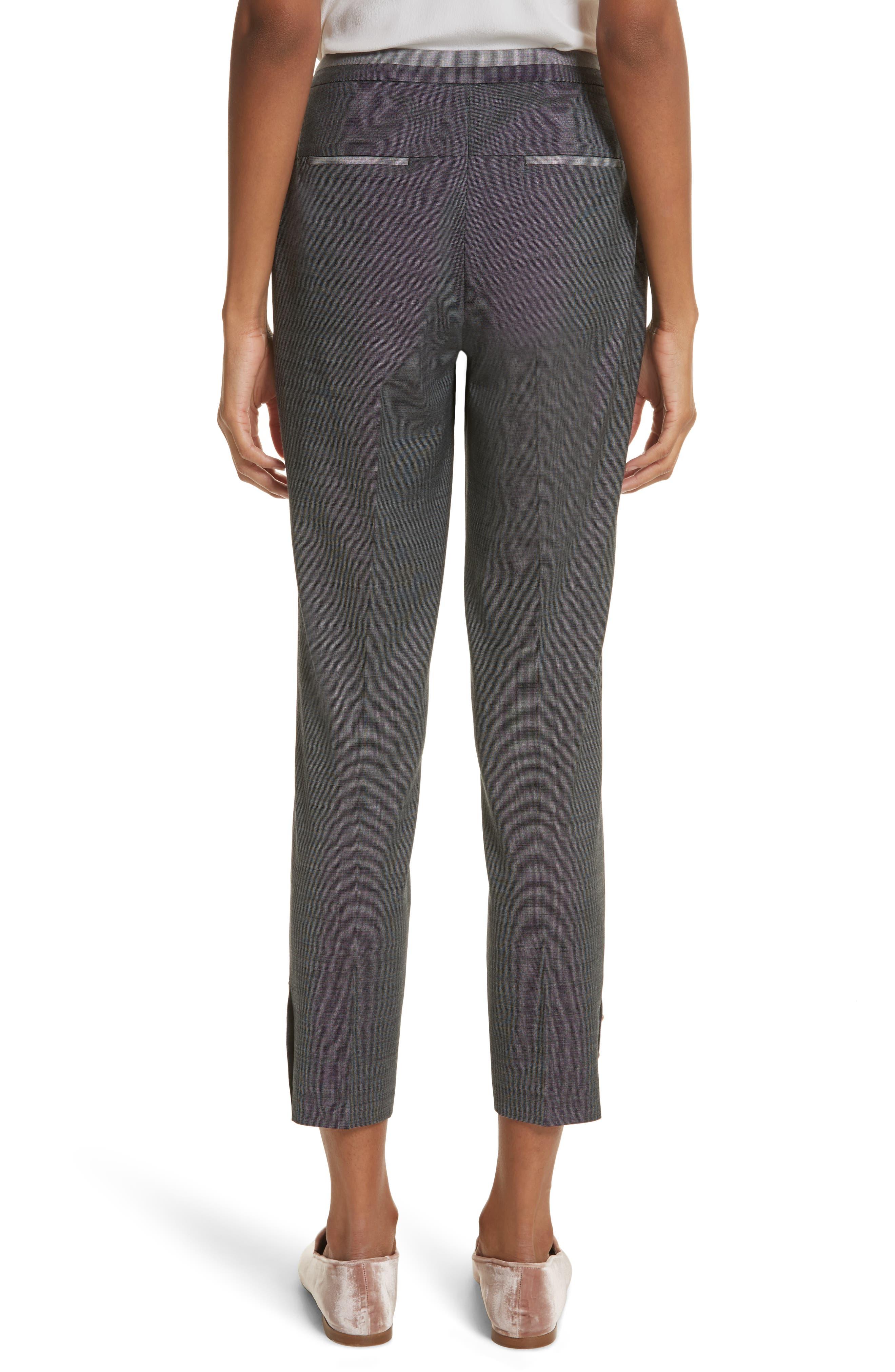 Contrast Trim Slim Leg Trousers,                             Alternate thumbnail 2, color,                             030
