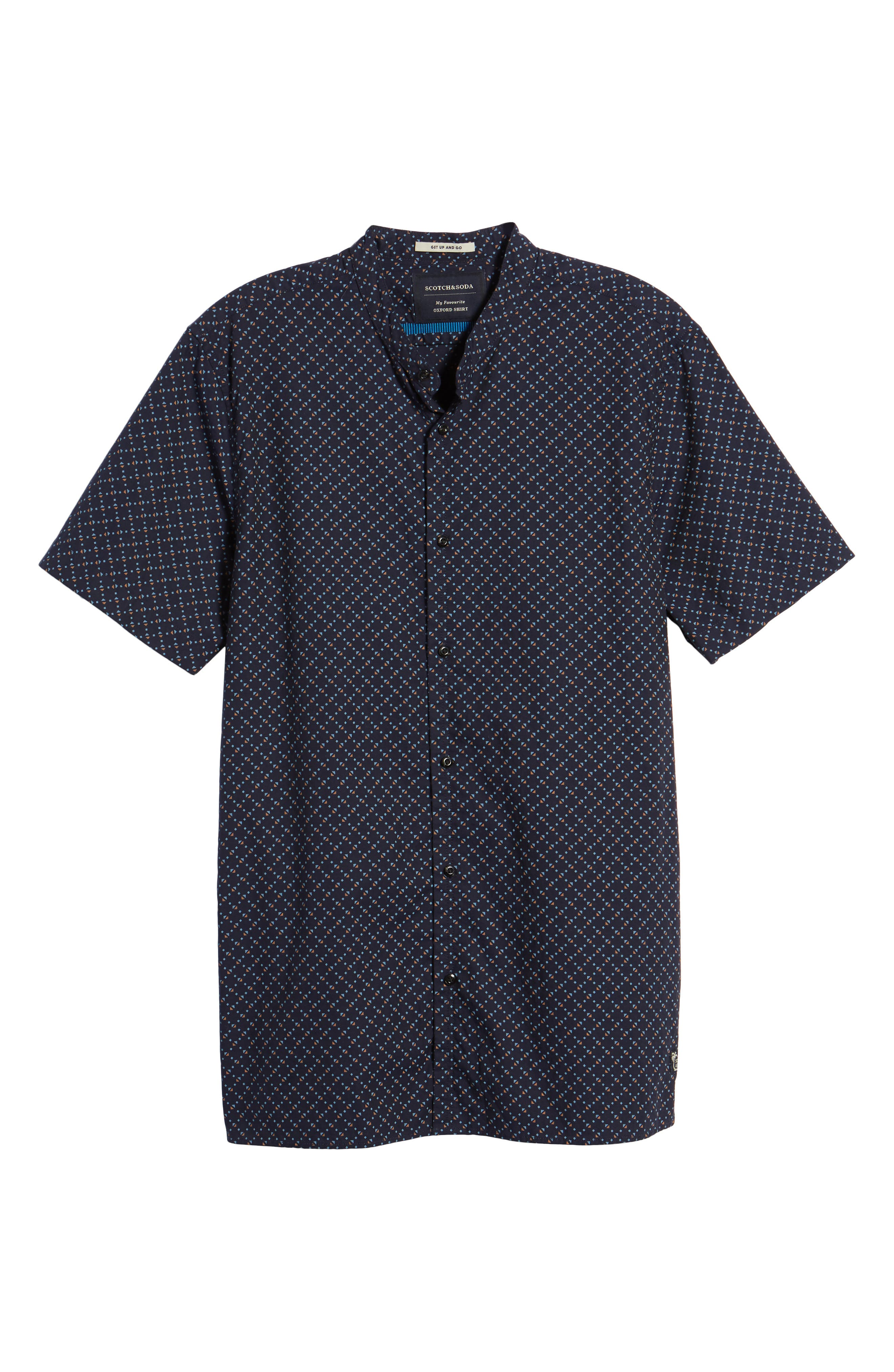 Woven Oxford Shirt,                             Alternate thumbnail 6, color,                             401