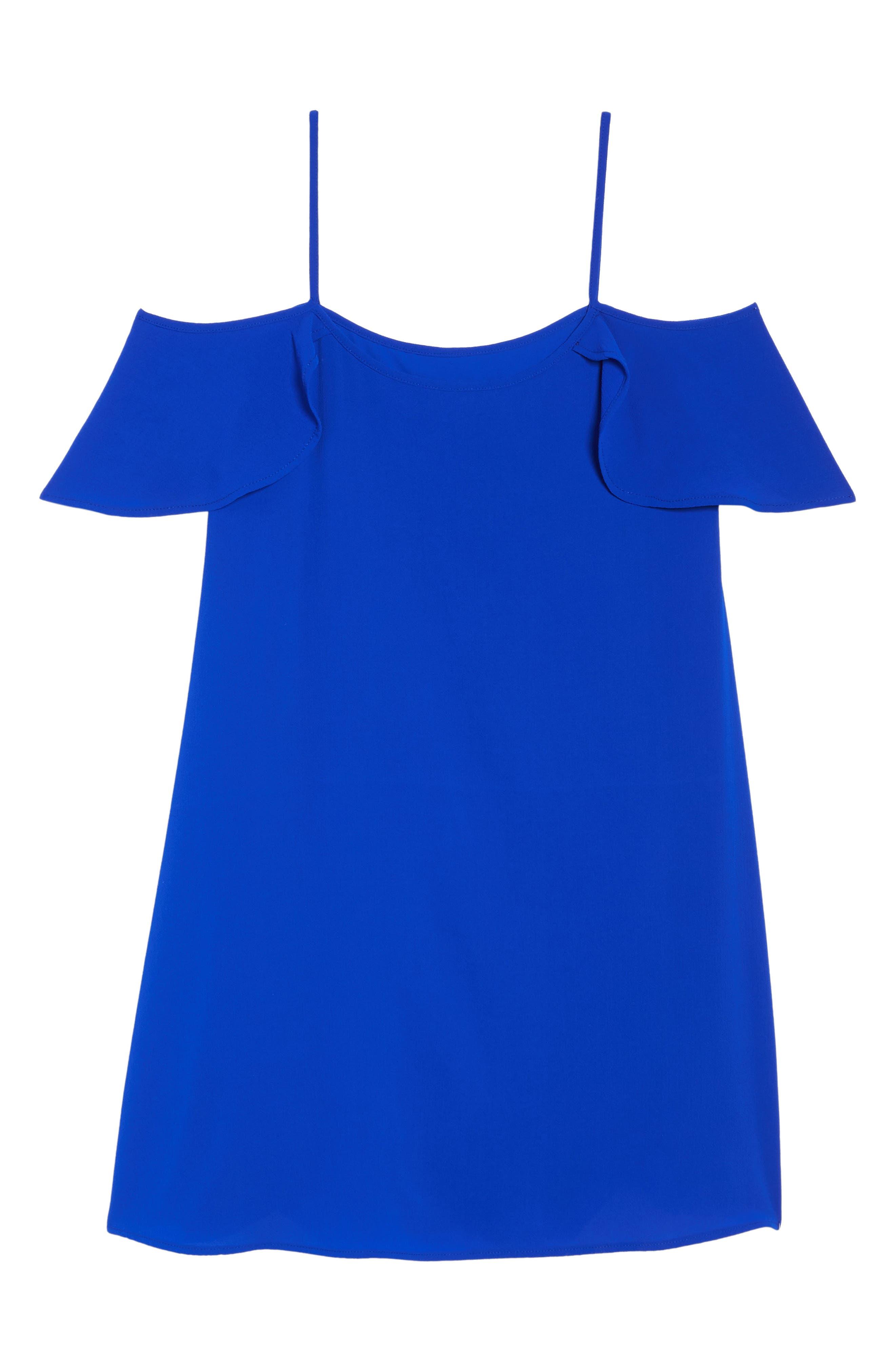 Cold Shoulder Swing Dress,                             Alternate thumbnail 6, color,                             431