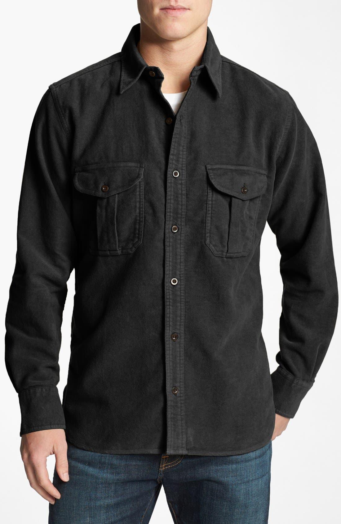 FILSON 'Moleskin Seattle' Flannel Shirt, Main, color, 001