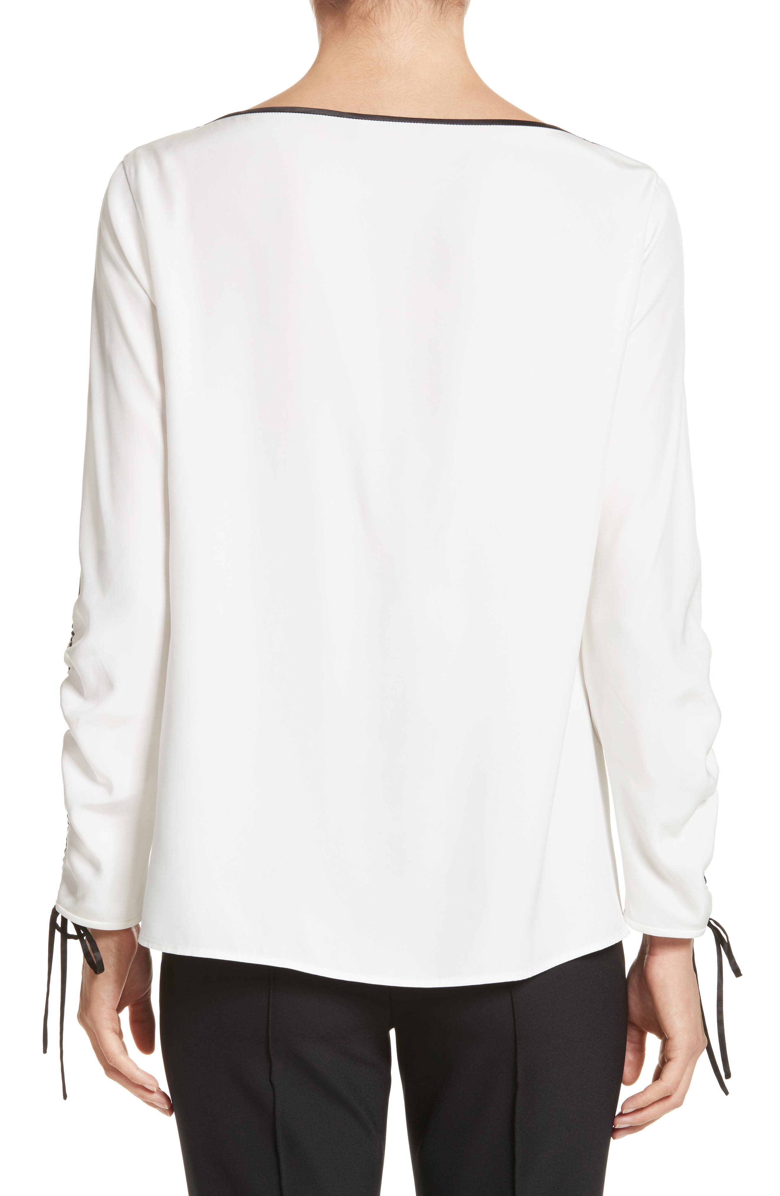 Georgina Matte Silk Blouse,                             Alternate thumbnail 2, color,                             141