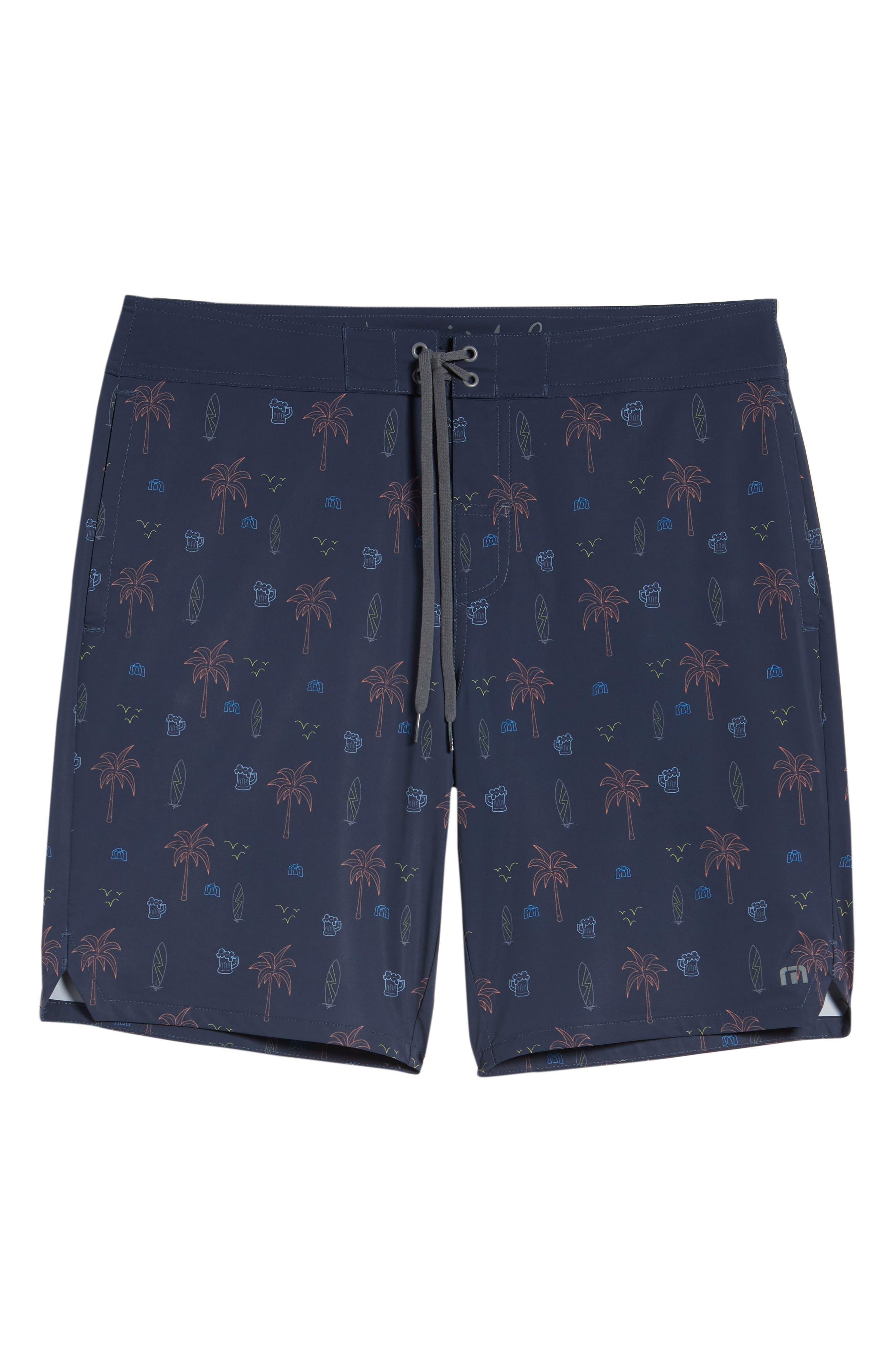 Safari Regular Fit Board Shorts,                             Alternate thumbnail 6, color,                             400