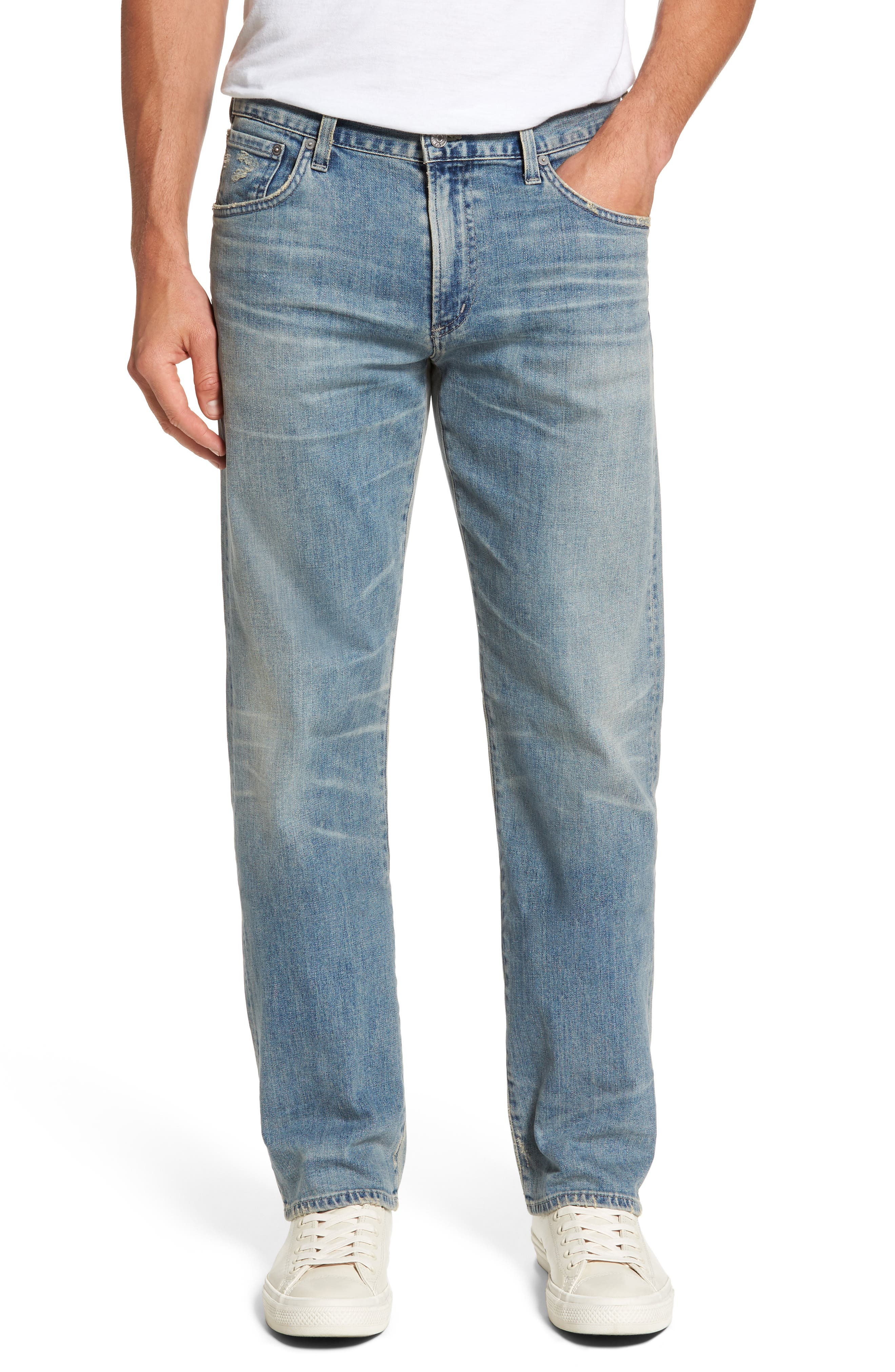 Sid Straight Leg Jeans,                         Main,                         color, ANCHOR