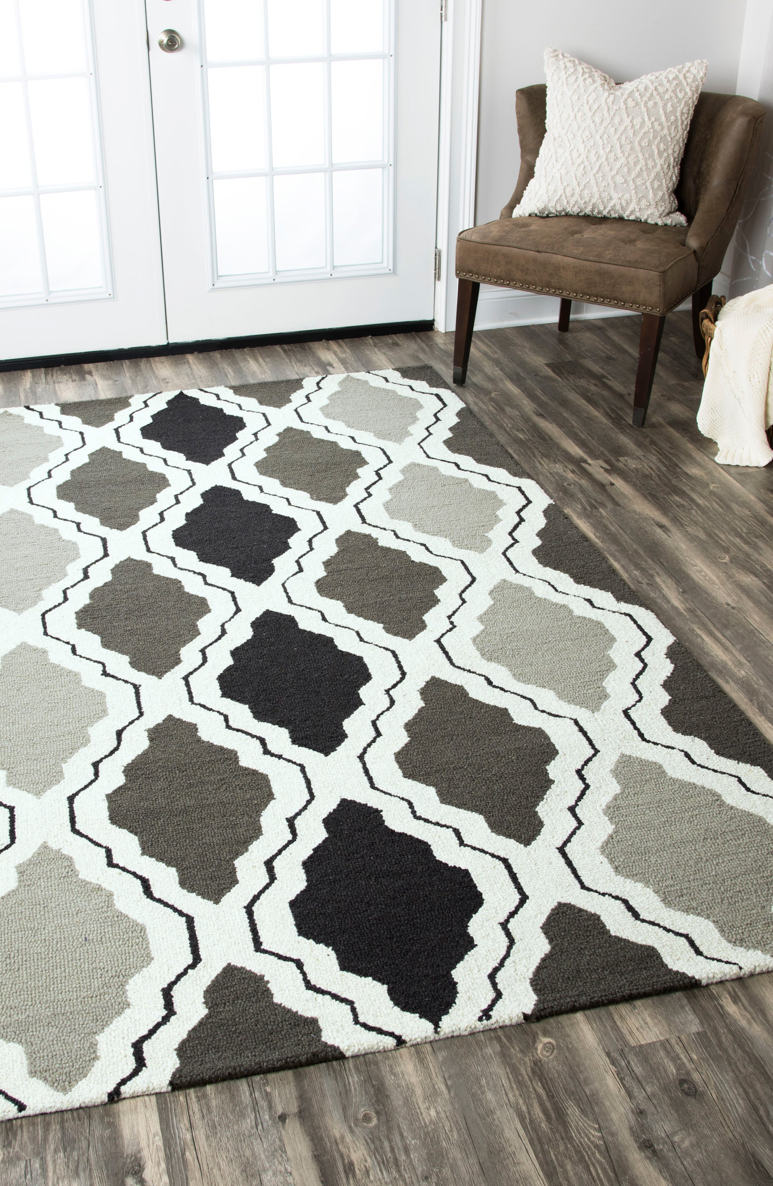 'Ogee' Wool Area Rug,                             Alternate thumbnail 7, color,                             030